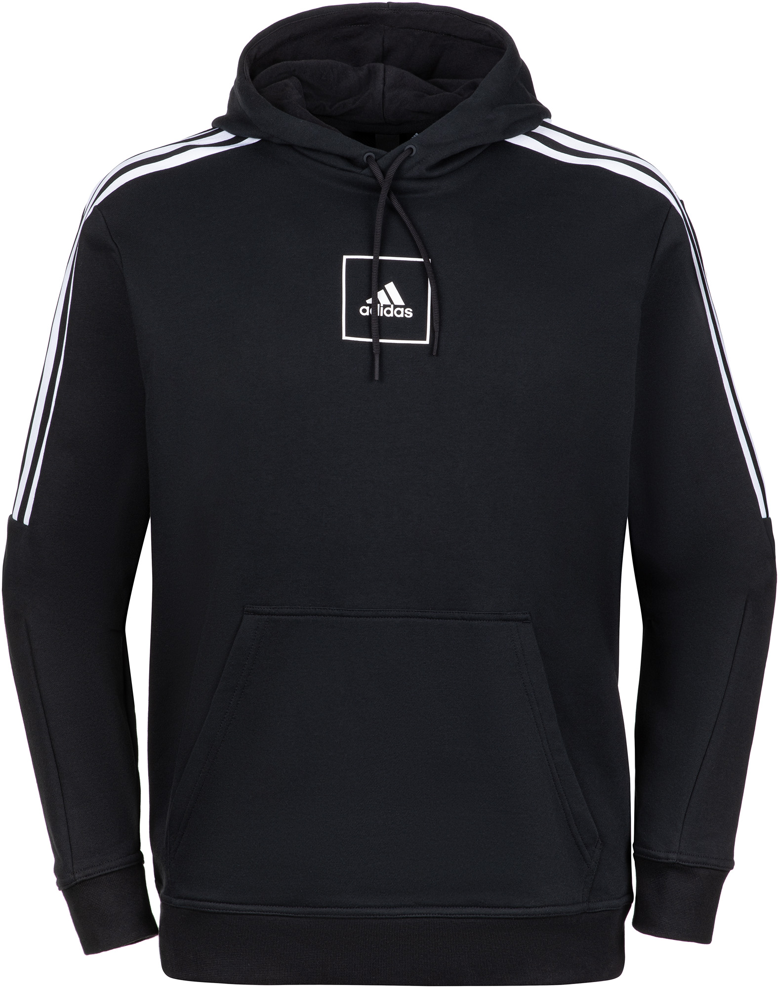 худи женское adidas ess 3s fz hd цвет серый розовый br2438 размер s 42 44 Adidas Худи мужская Adidas 3-Stripes, размер 44-46