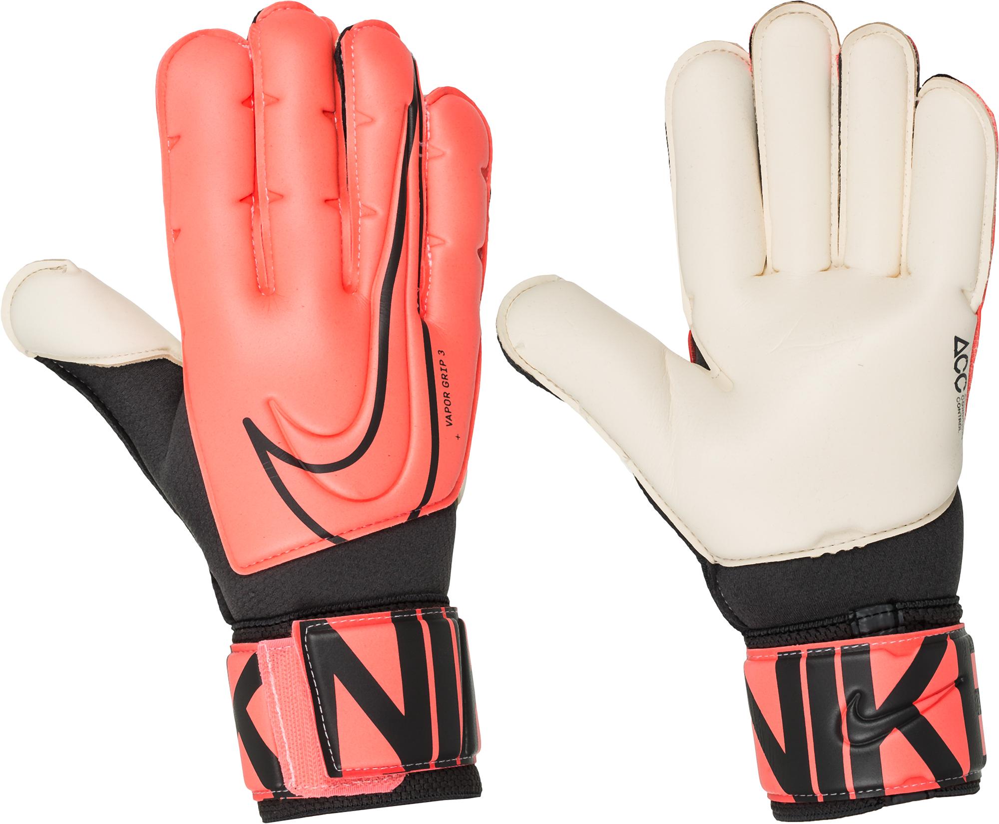 цена Nike Перчатки вратарские Nike Goalkeeper Vapor Grip3, размер 9 онлайн в 2017 году