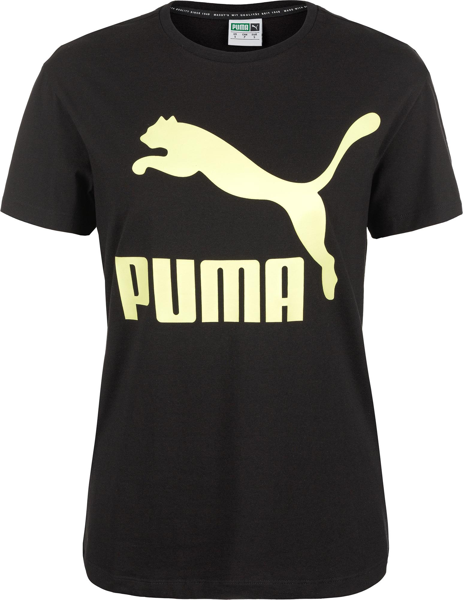 Puma Футболка женская Puma Classics Logo Tee, размер 42-44 футболка женская puma ess no 1 tee heather w цвет синий 83839920 размер s 42 44
