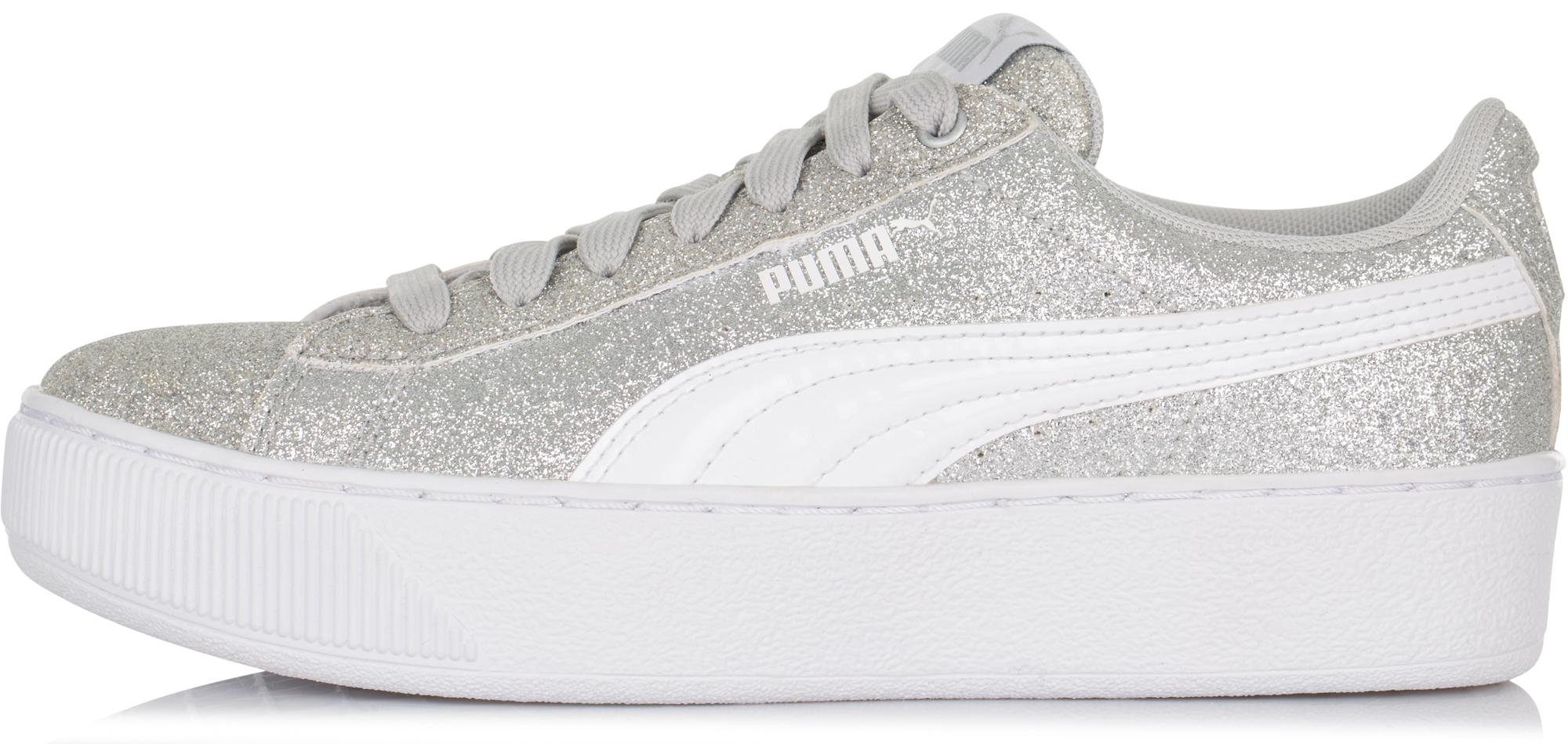 Puma Кеды для девочек  Vikky Platform Glitz, размер 38