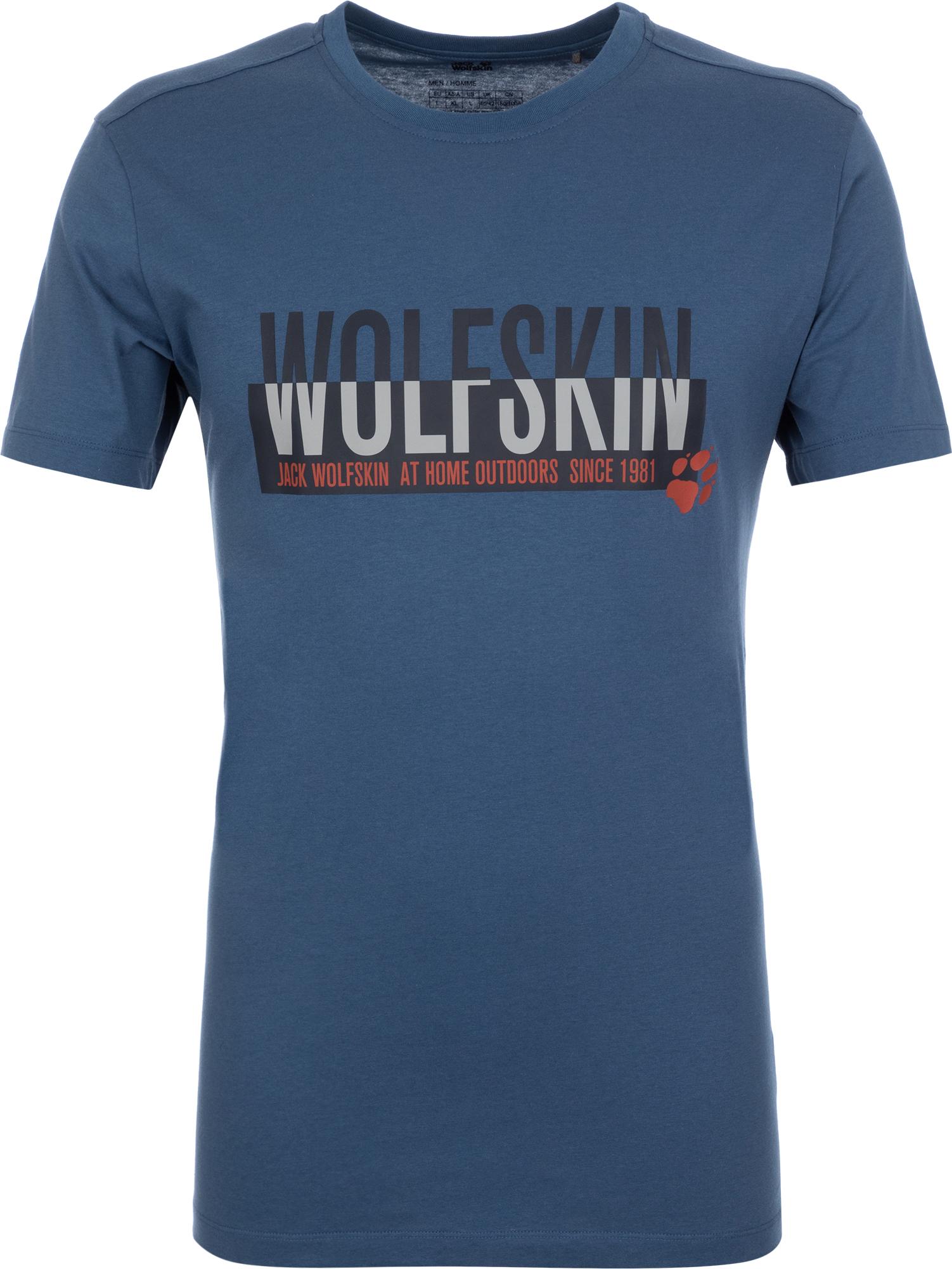 JACK WOLFSKIN Футболка мужская JACK WOLFSKIN Slogan, размер 58 slogan