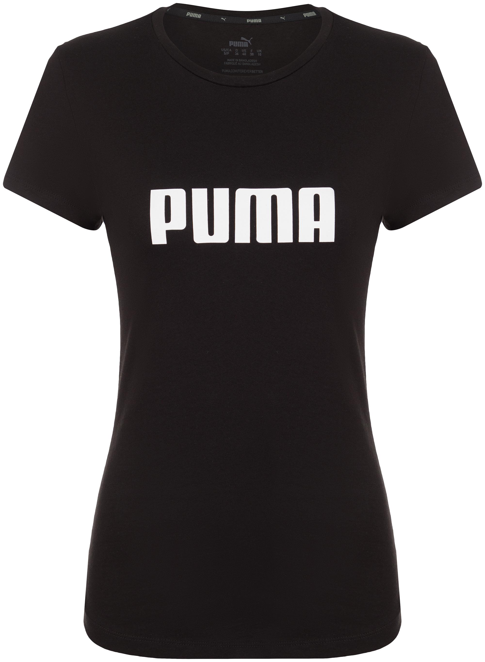 Puma Футболка женская Puma ESS Logo, размер 42-44 брюки спортивные puma ess jersey pants w