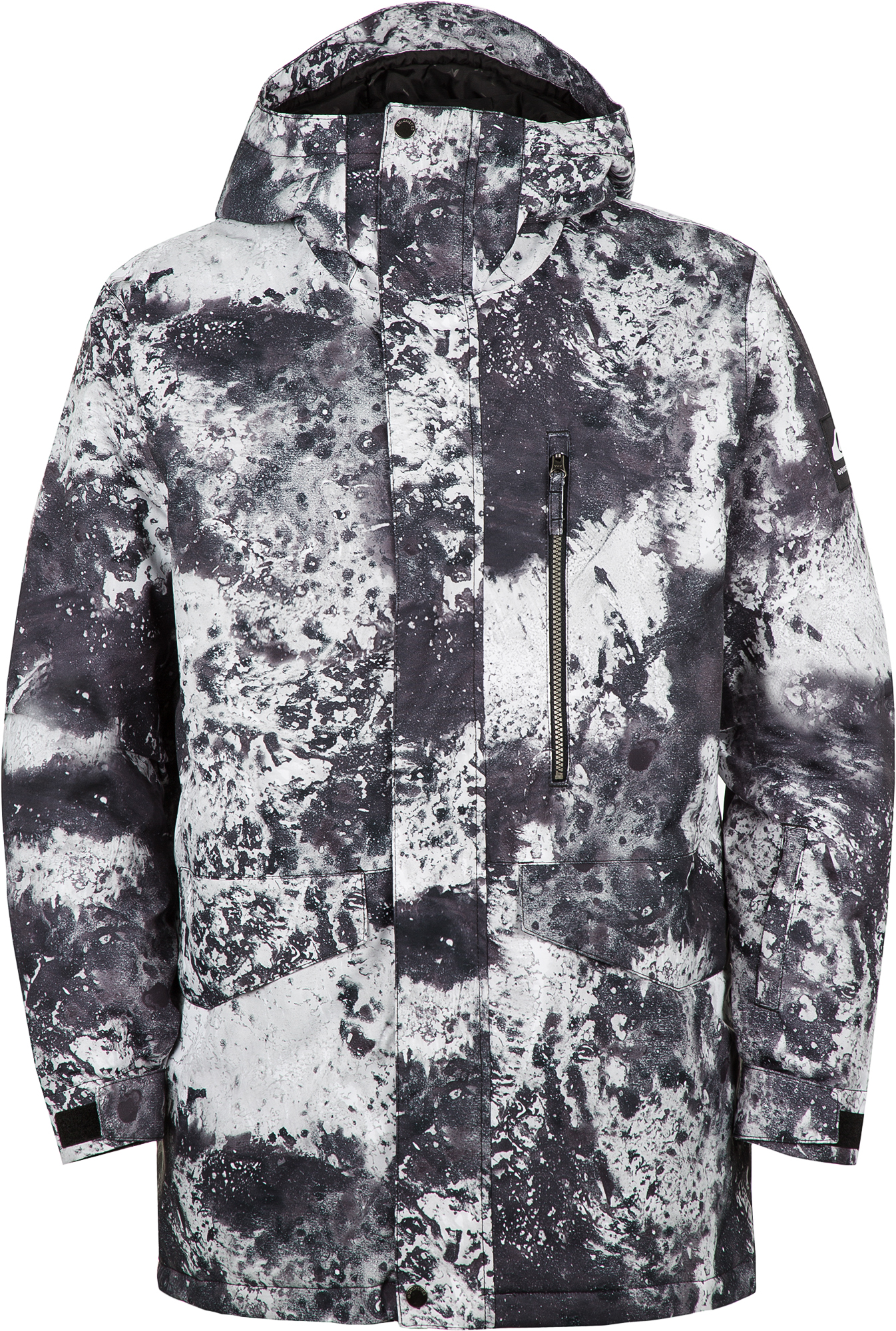 цена Quiksilver Куртка утепленная мужская Quiksilver Mission Printed Jk, размер 46-48 онлайн в 2017 году