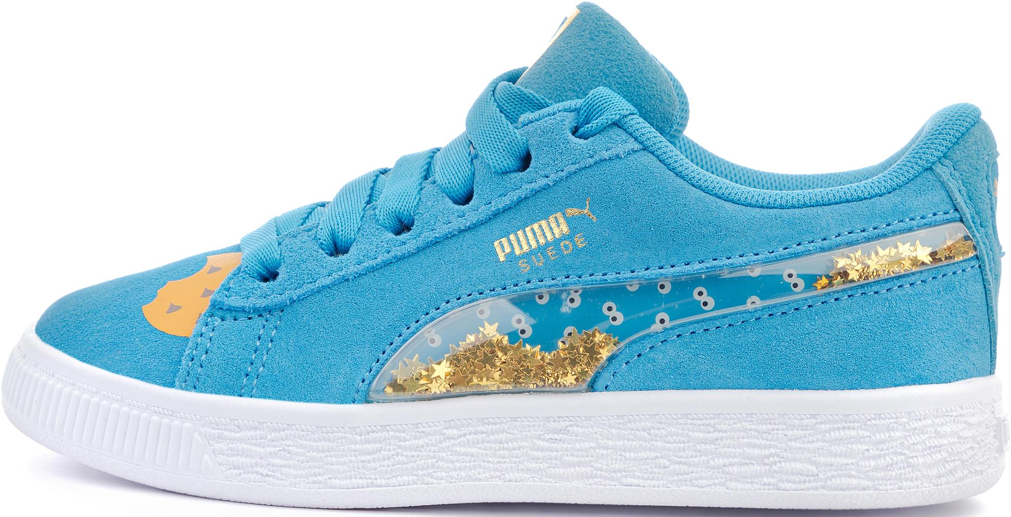 цена Puma Кеды для девочек Puma Sesame Str 50 Suede Statement, размер 33 онлайн в 2017 году