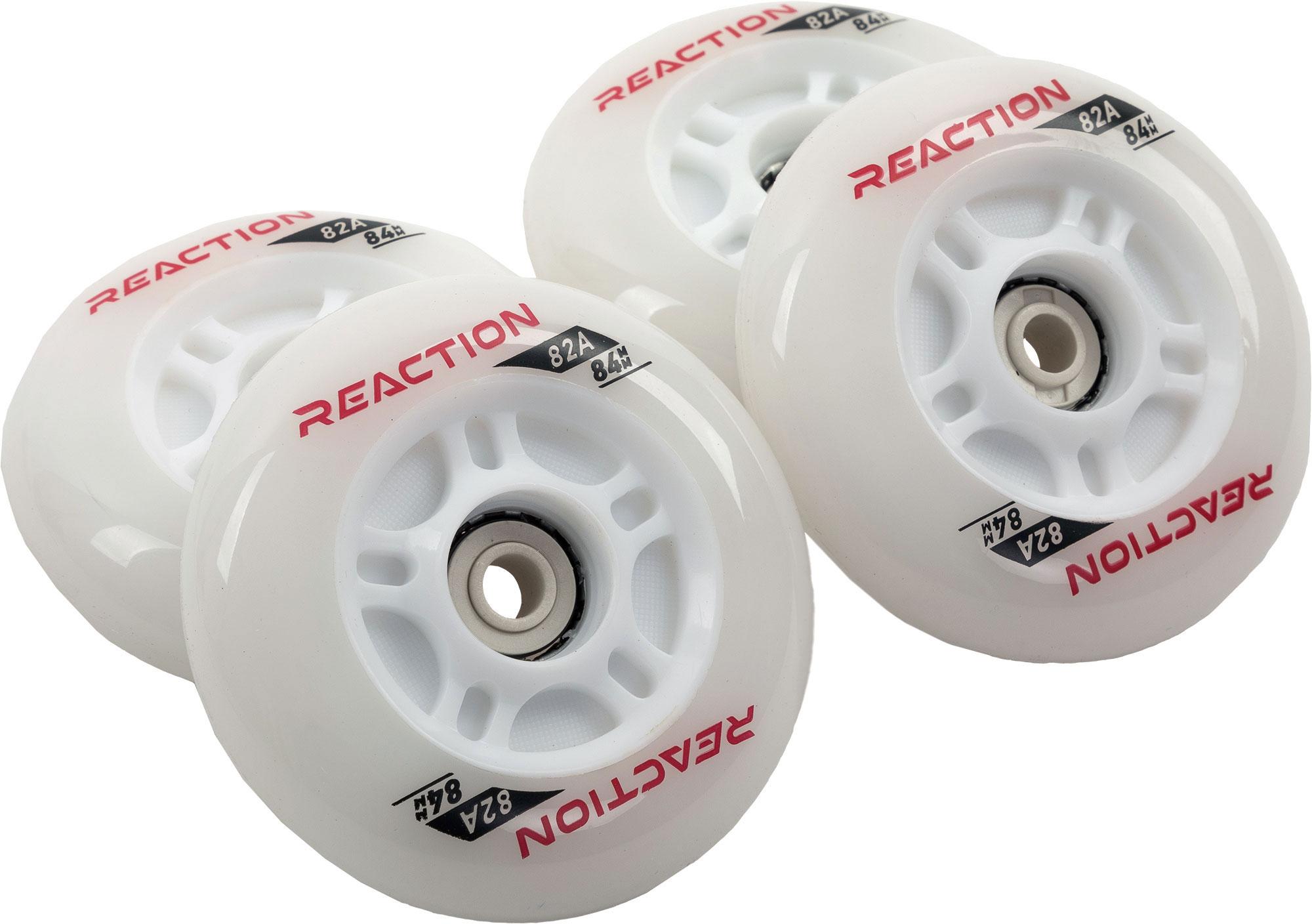 цена Reaction Набор колес для роликов REACTION 84 мм, 80А, 4 шт онлайн в 2017 году