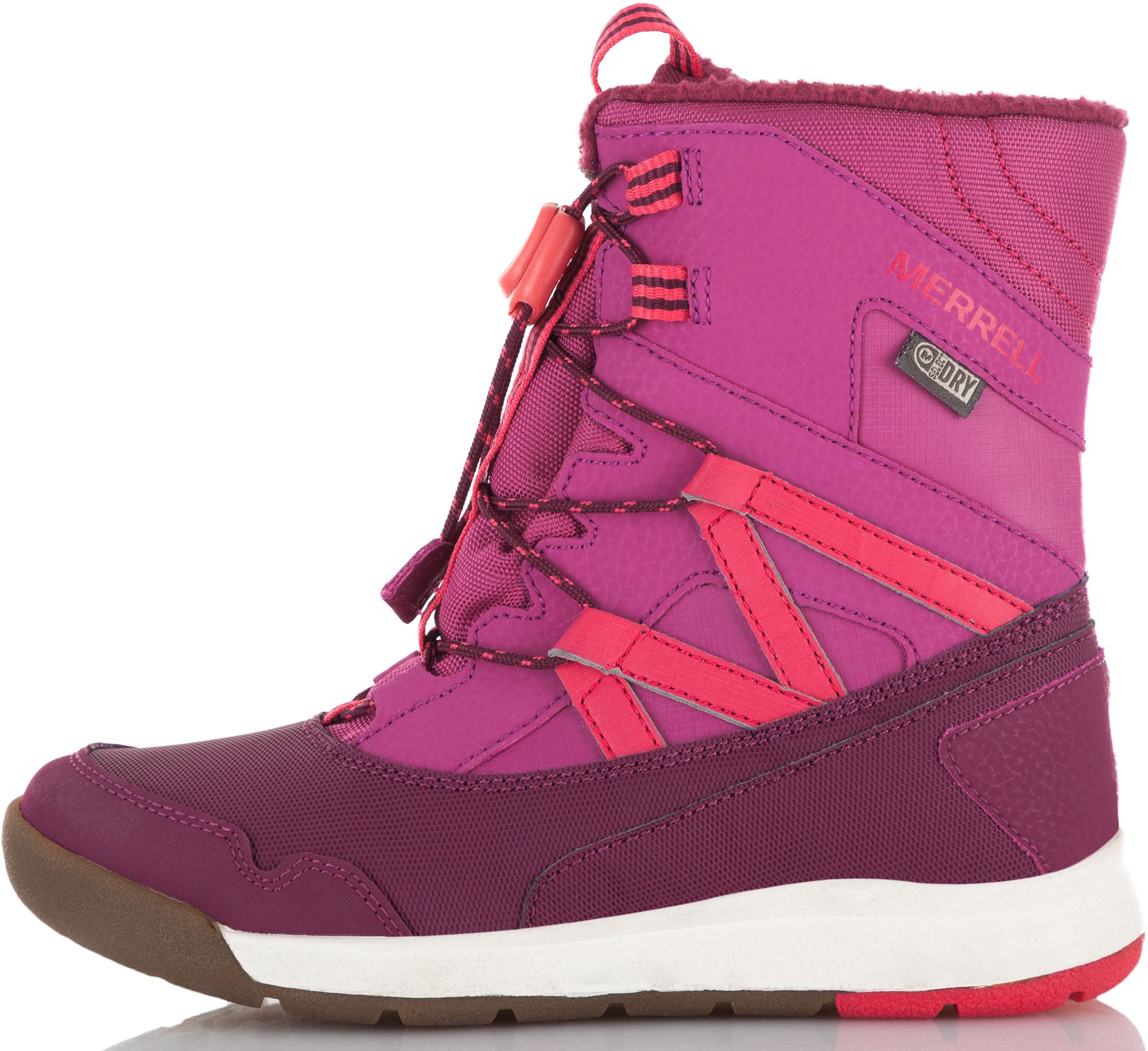 Merrell Ботинки утепленные для девочек M-Snow Crush Wtrpf, размер 34,5