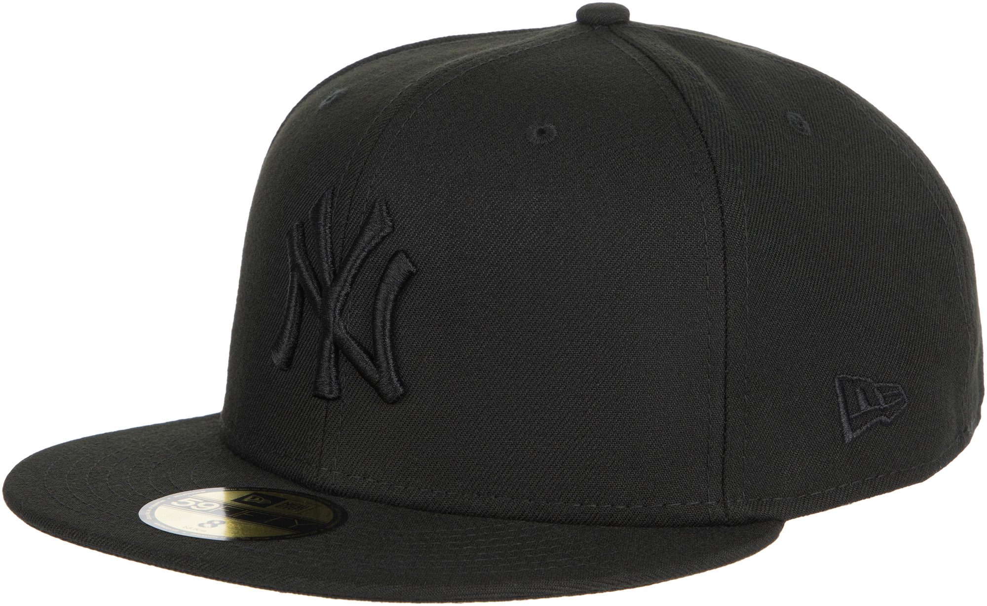 New Era Бейсболка New Era Black On Black NY Yankees, размер 56 бейсболка пятипанелька huf oxford volley black