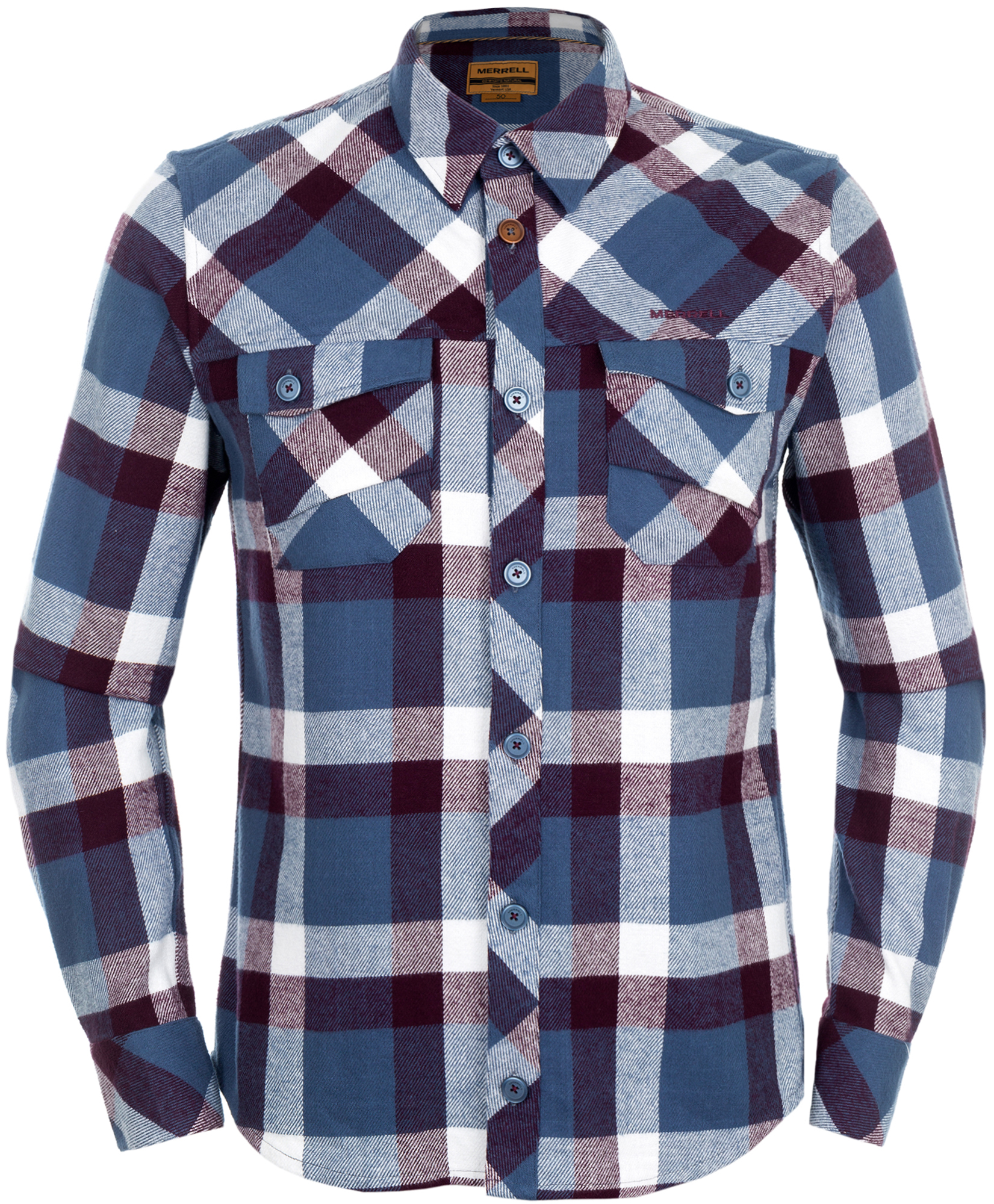 Merrell Рубашка с длинным рукавом мужская Merrell Germania рубашка мужская gap 142643 349