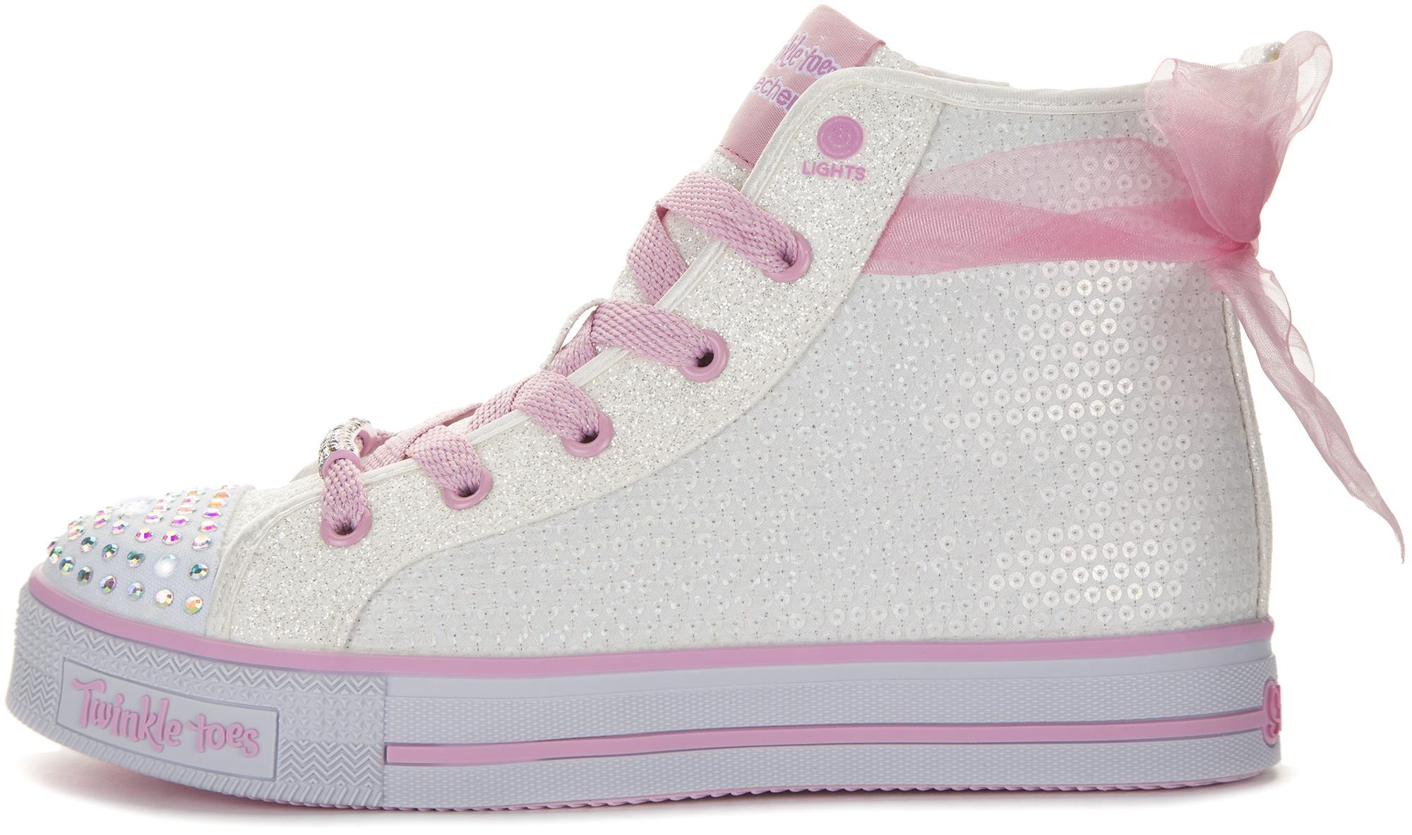 Skechers Кеды высокие для девочек Ms. Sparkle Beauty, размер 34,5