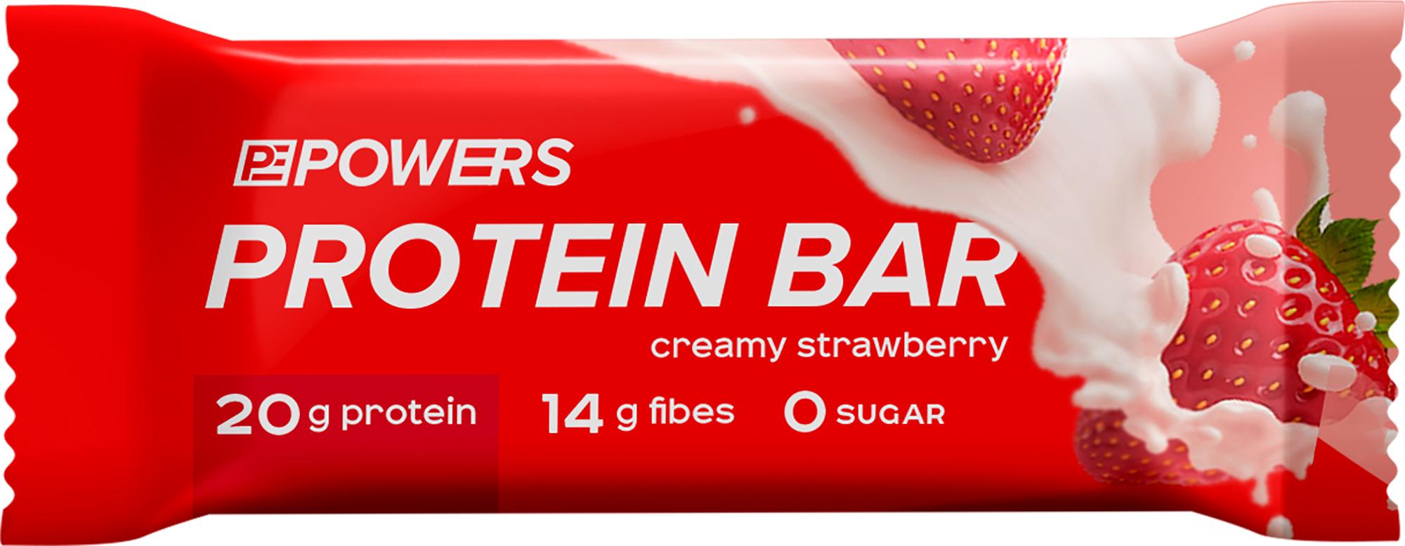 Powers Батончик протеиновый POWERS Клубника