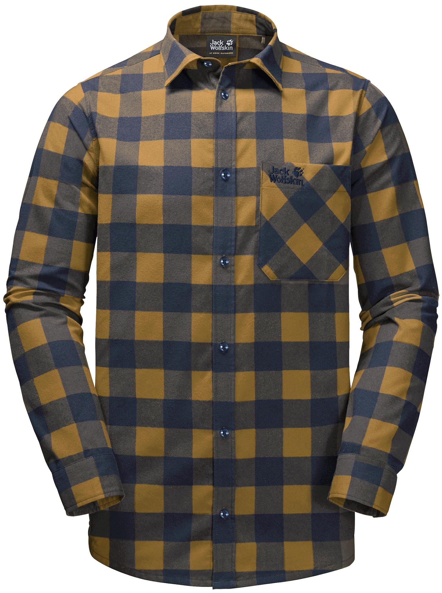 JACK WOLFSKIN Рубашка мужская Jack Wolfskin Red River, размер 58