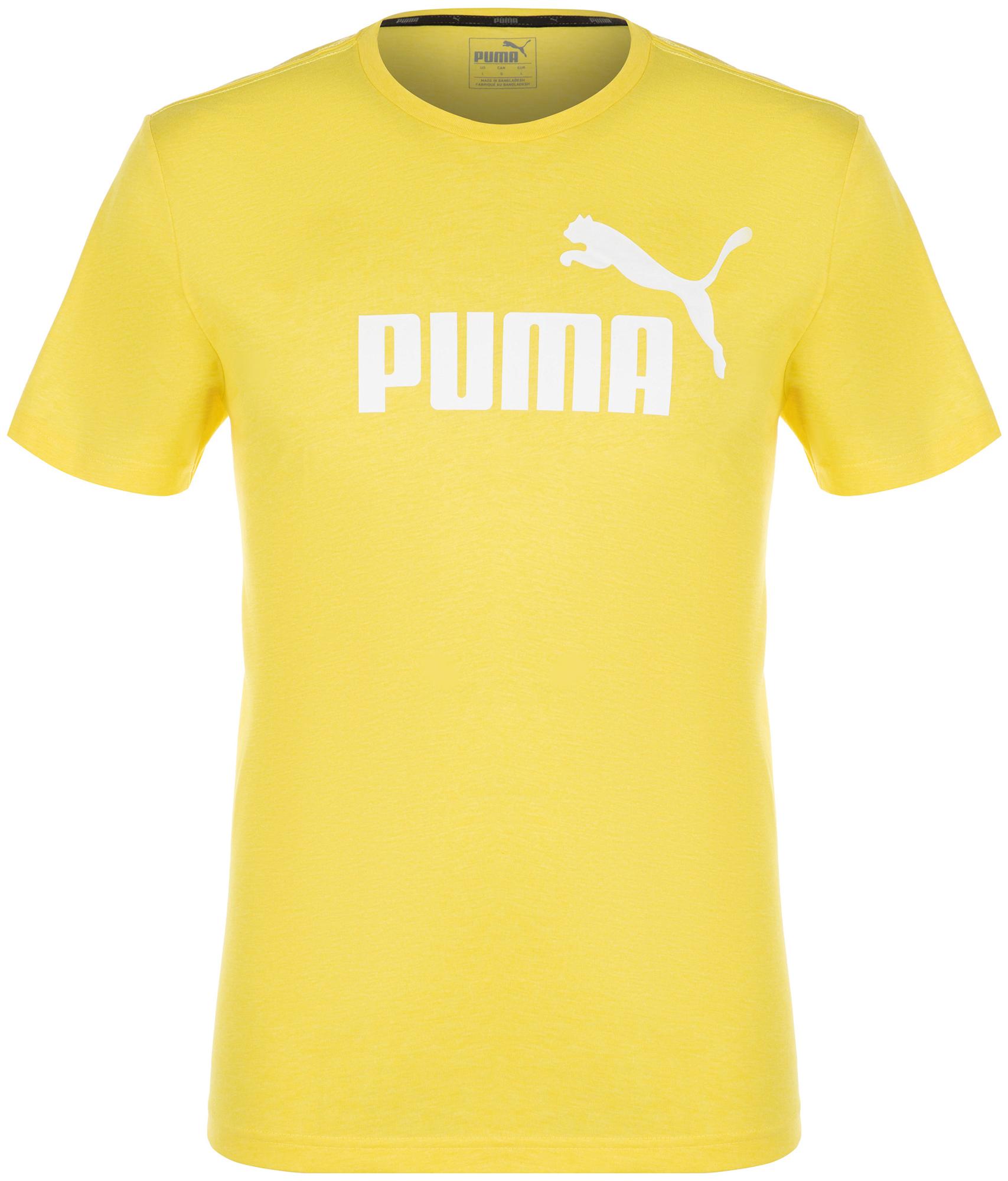 Puma Футболка мужская Puma ESS+ Heather, размер 50-52 футболка женская puma ess no 1 tee heather w цвет синий 83839920 размер s 42 44