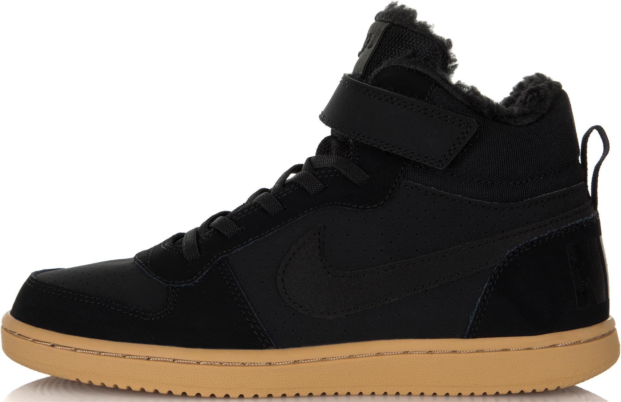 Nike Кеды для мальчиков Nike Court Borough Mid (PS), размер 34 цена