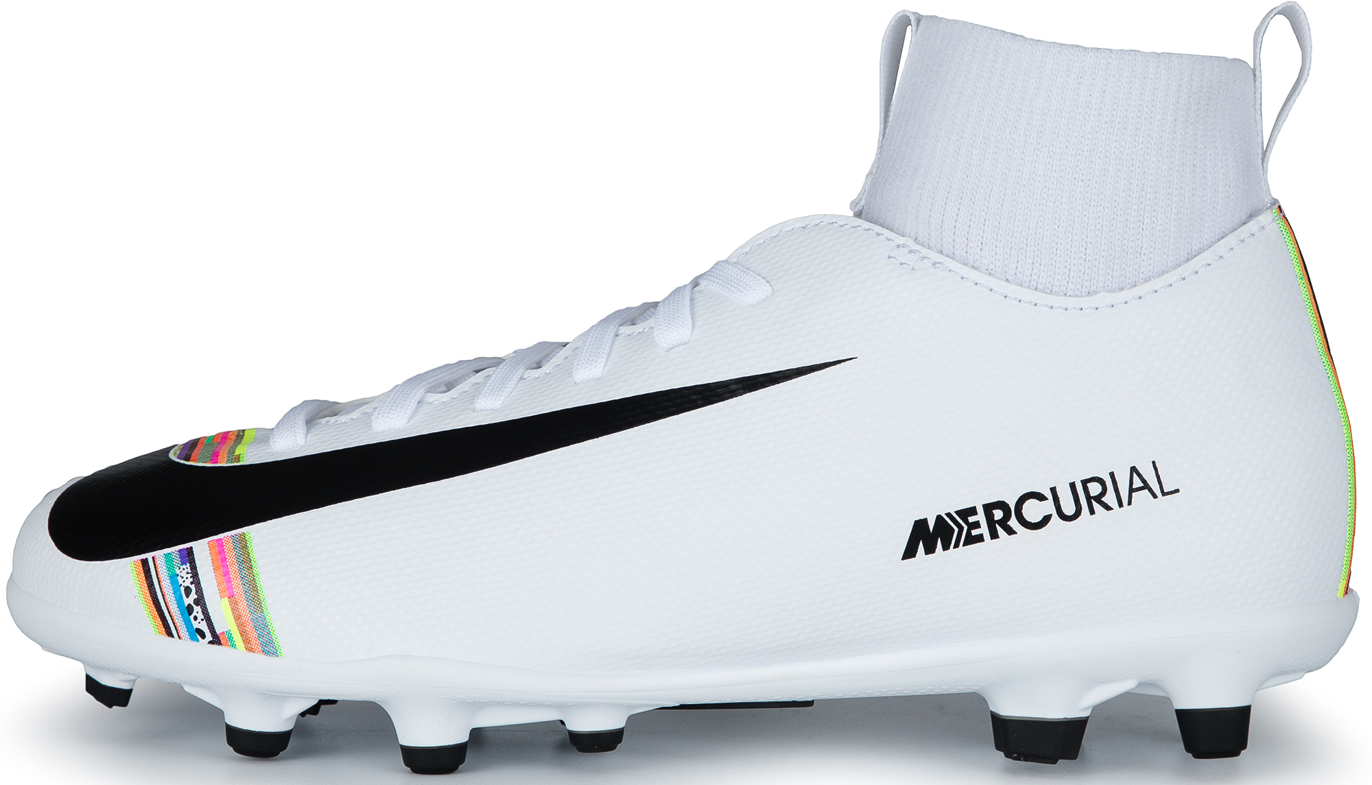 Nike Бутсы для мальчиков Nike Mercurial Superfly 6 Club CR7 FG/MG, размер 34.5 бутсы nike superfly 6 club fg mg ah7363 001