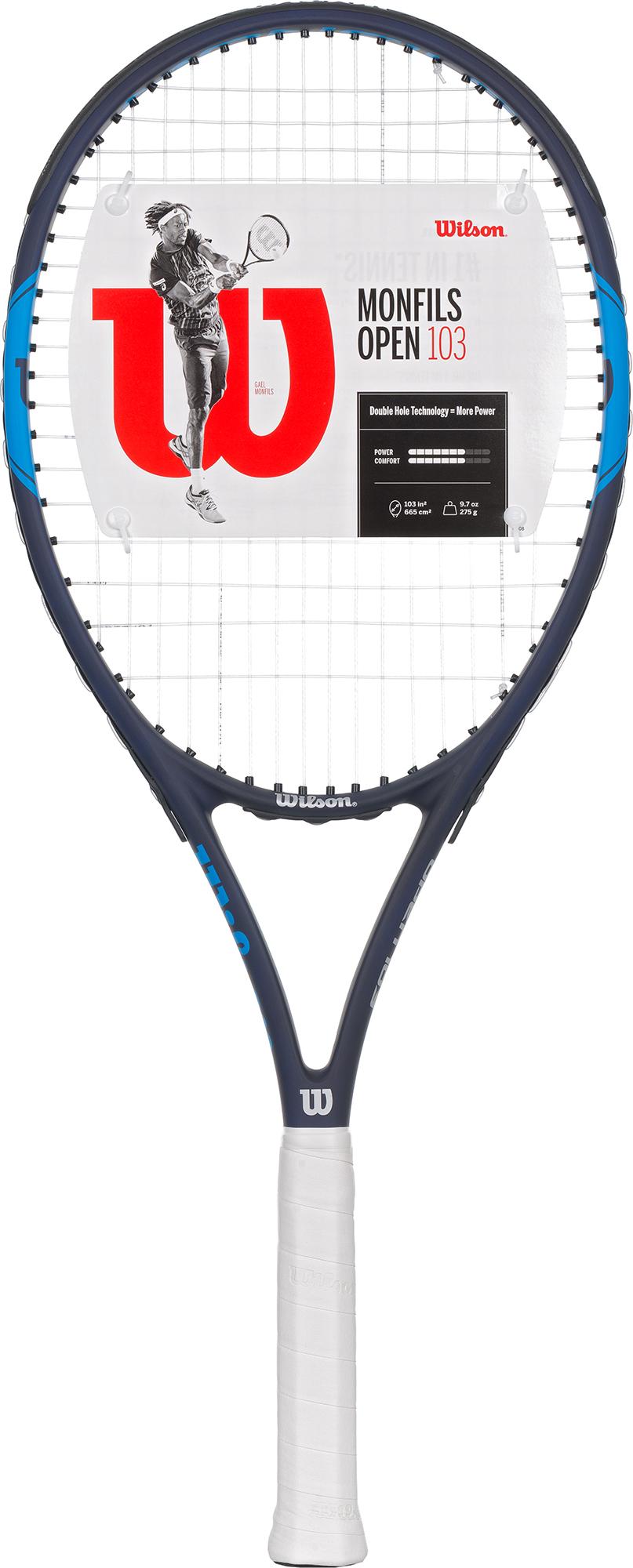 Wilson Ракетка для большого тенниса Wilson Monfils Open 103 сетки для тенниса большого