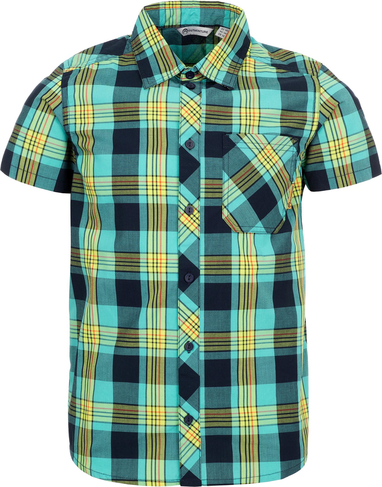 Outventure Рубашка с коротким рукавом для мальчиков Outventure, размер 128