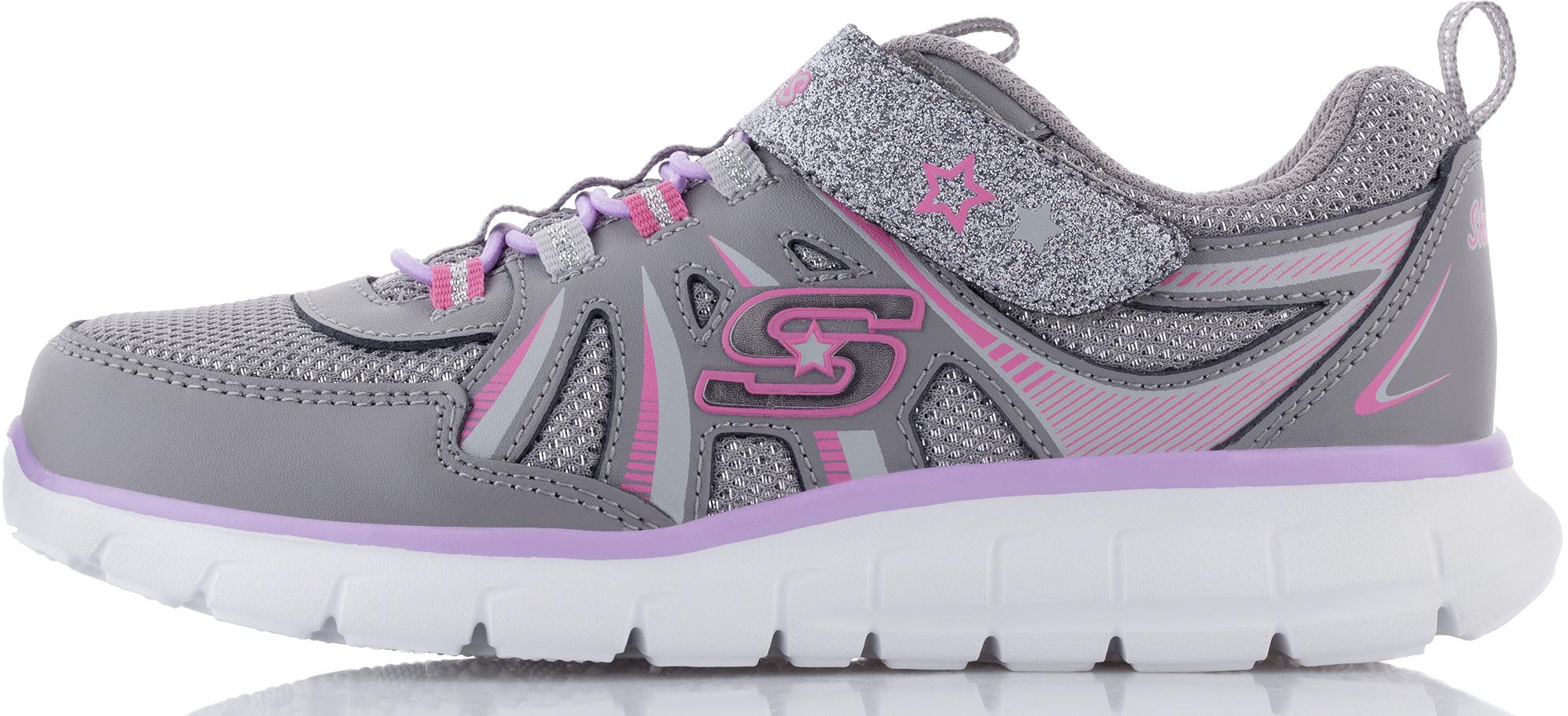 Skechers Кроссовки для девочек Skechers детские кожаные кроссовки для девочек