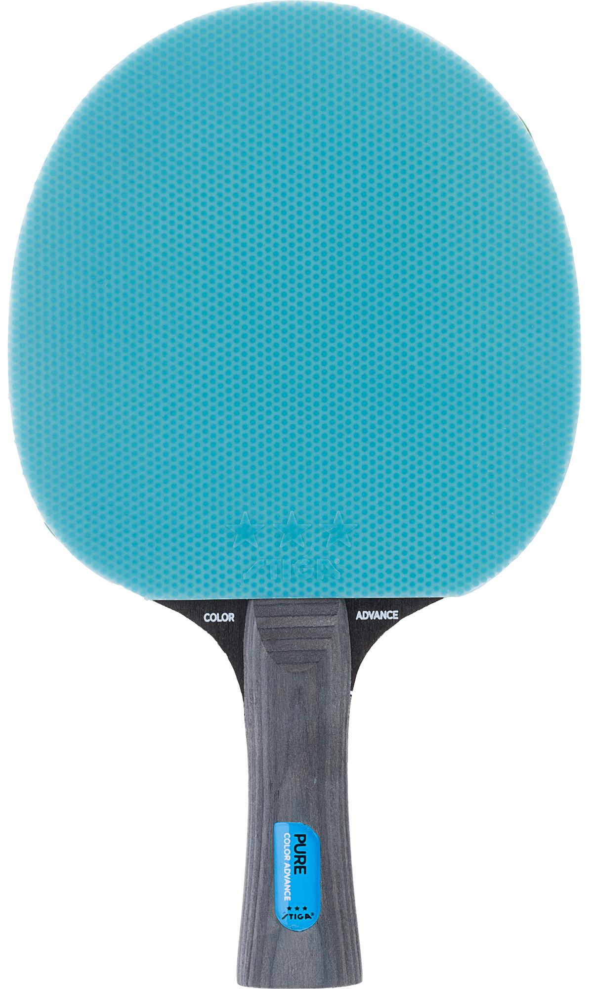 Stiga Ракетка для настольного тенниса Stiga Pure Cyan stiga подставка для игр раскладная stiga