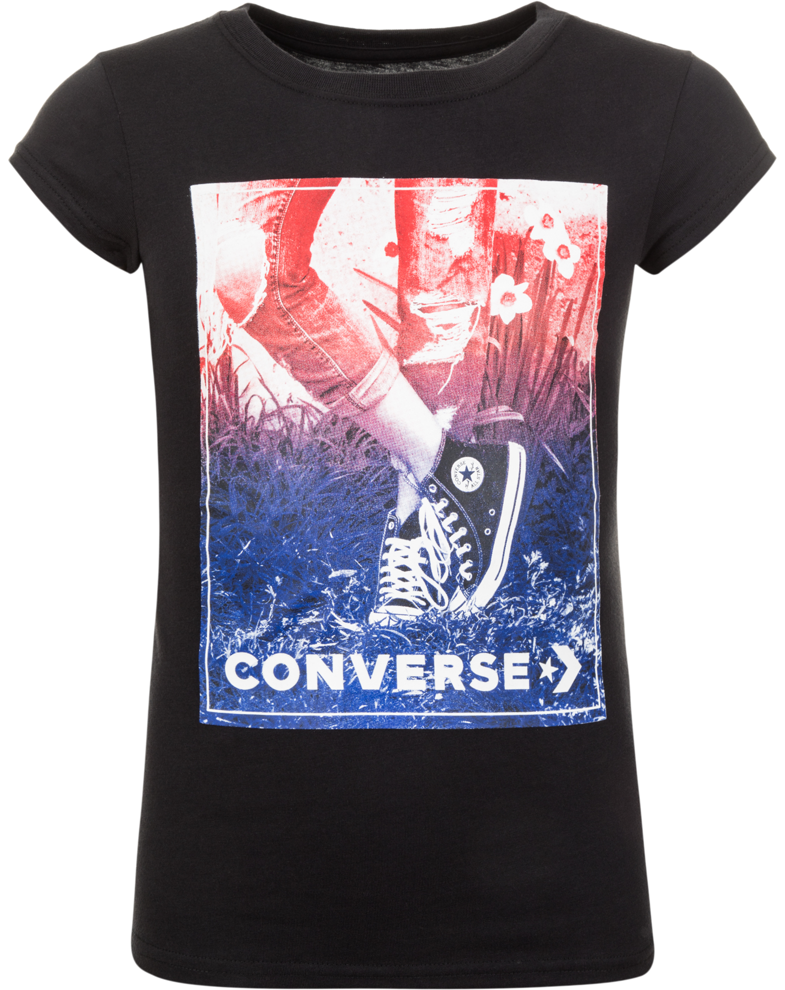 Converse Футболка для девочек Converse, размер 140