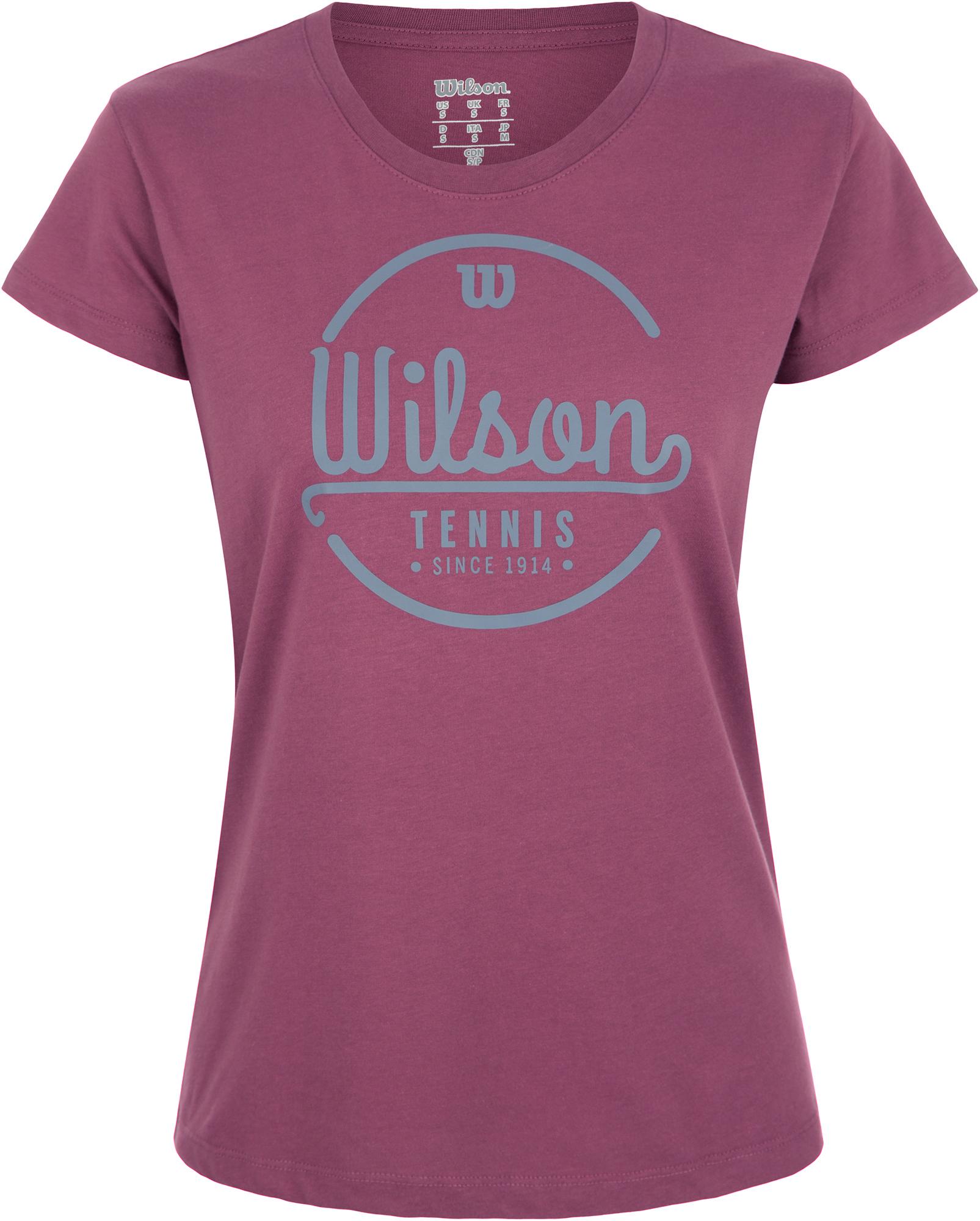 Wilson Футболка женская Wilson Lineage Tech Tee, размер 44-46 футболка женская puma evo tee цвет персиковый 57511231 размер m 44 46