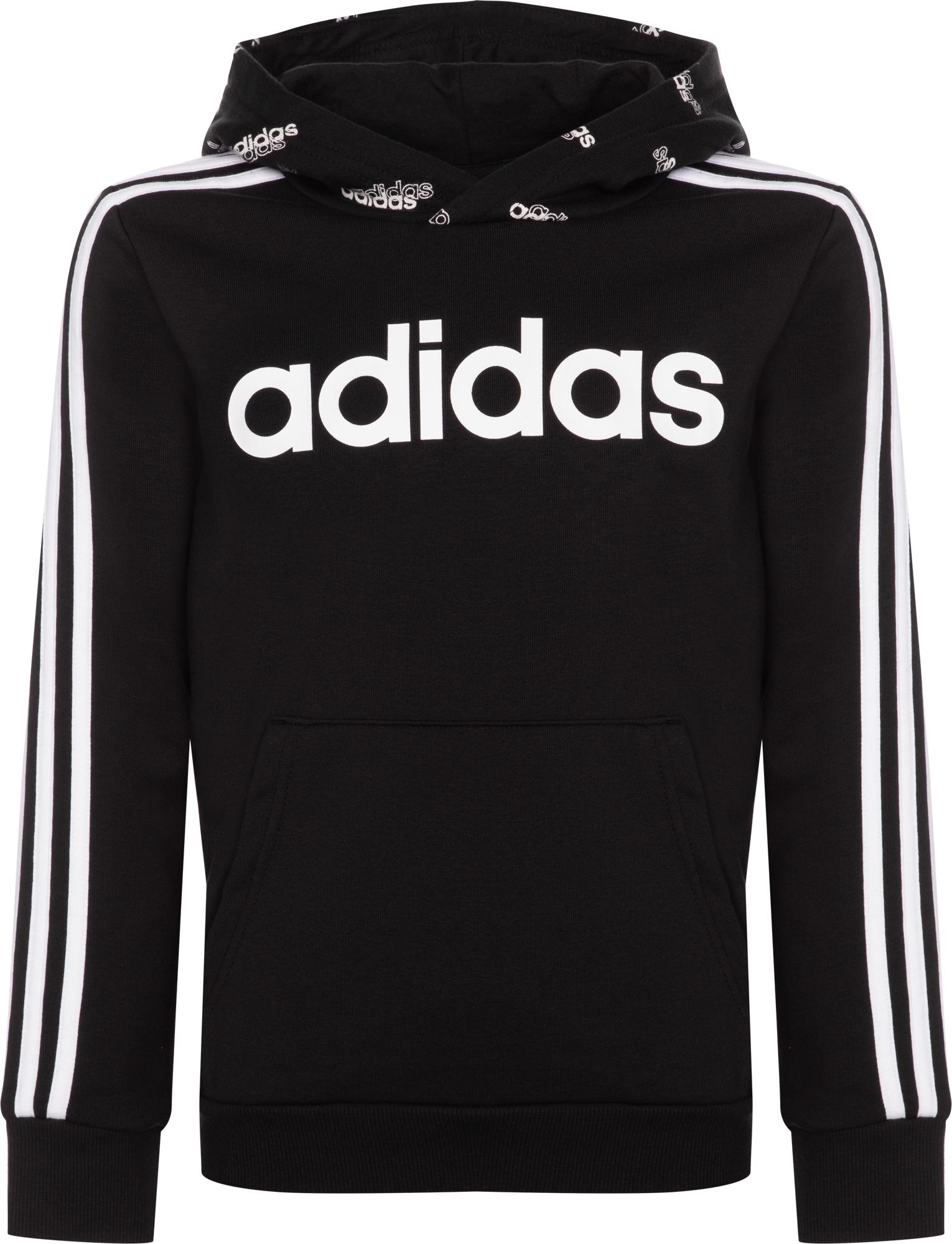 худи женское adidas ess 3s fz hd цвет серый розовый br2438 размер s 42 44 Adidas Худи для мальчиков Adidas, размер 128