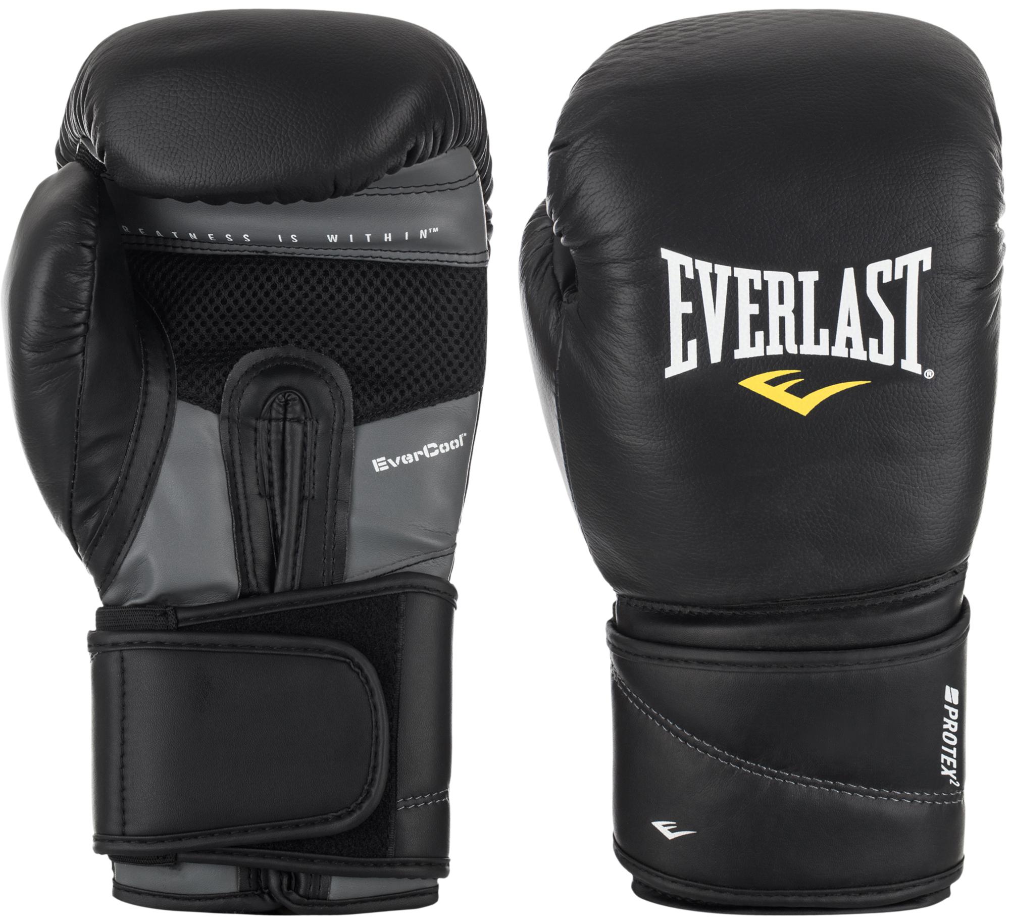 все цены на Everlast Перчатки боксерские Everlast Protex2 Leather, размер 14 oz/S-M