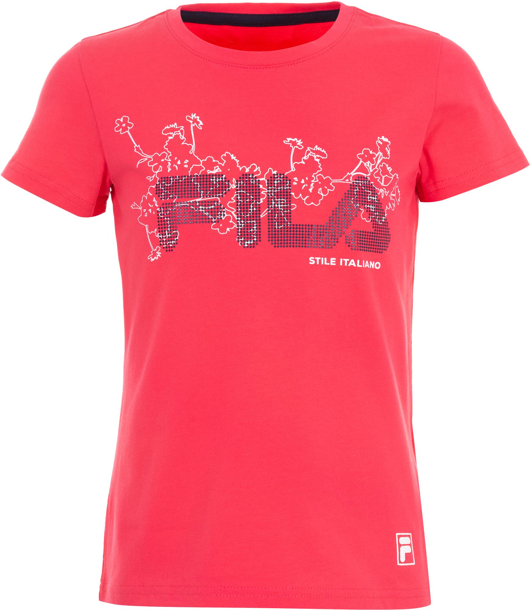 купить Fila Футболка для девочек Fila, размер 122 онлайн