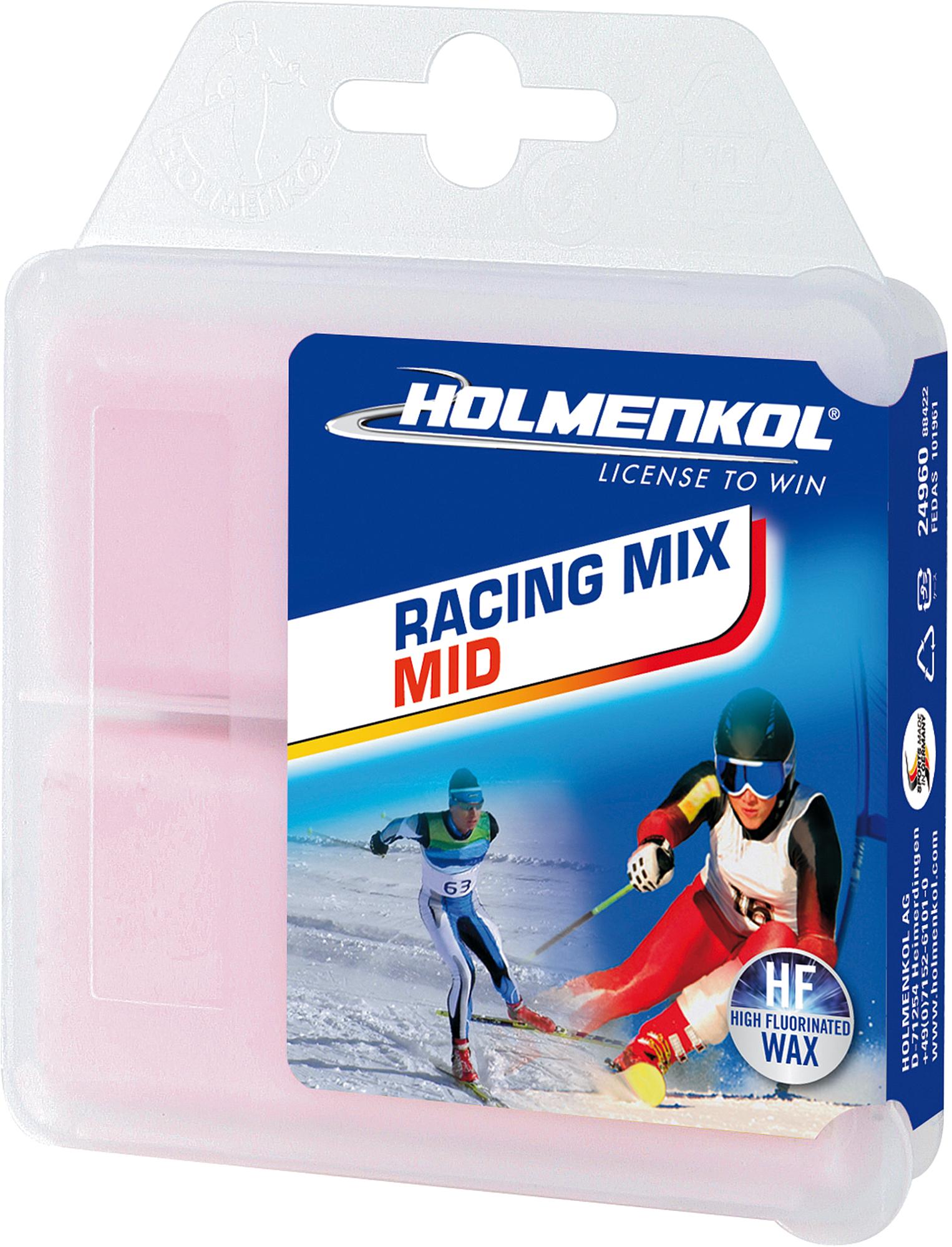 цены HOLMENKOL Мазь скольжения твердая для лыж и сноубордов HOLMENKOL Racing Mix MID, размер Без размера в интернет-магазинах