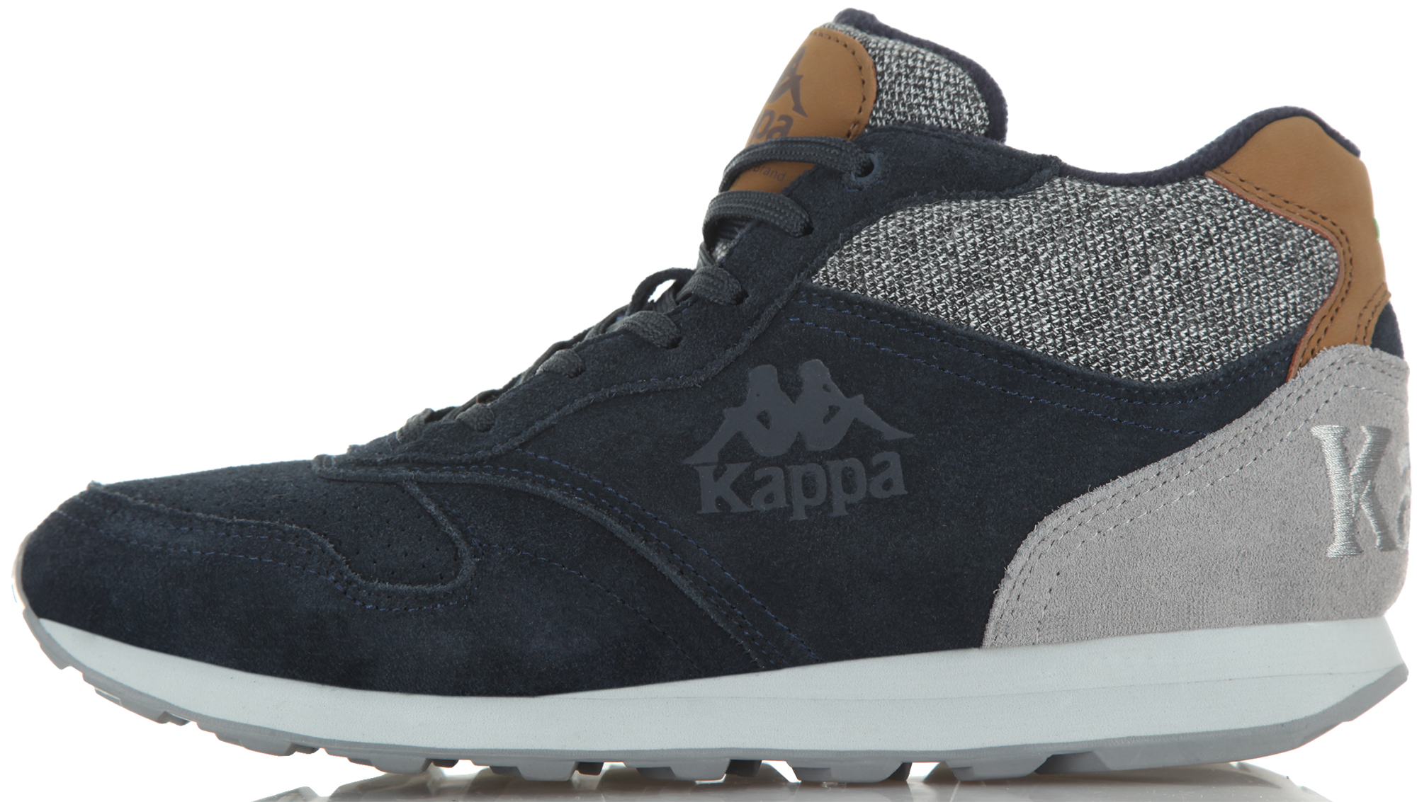 Kappa Кроссовки утепленные мужские Kappa Authentic Run Mid, размер 40 kappa кеды мужские kappa teron
