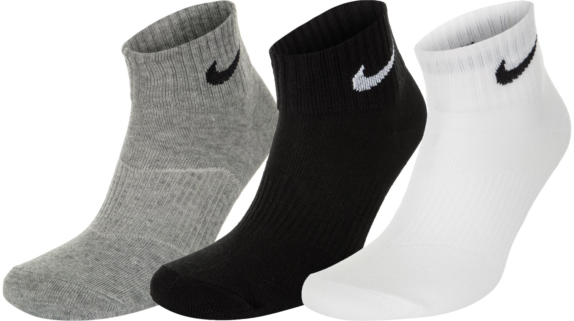 Nike Носки Nike Lightweight Quarter, 3 пары, размер 33-37 носки nike 3ppk lightweight no snow sx4705 001