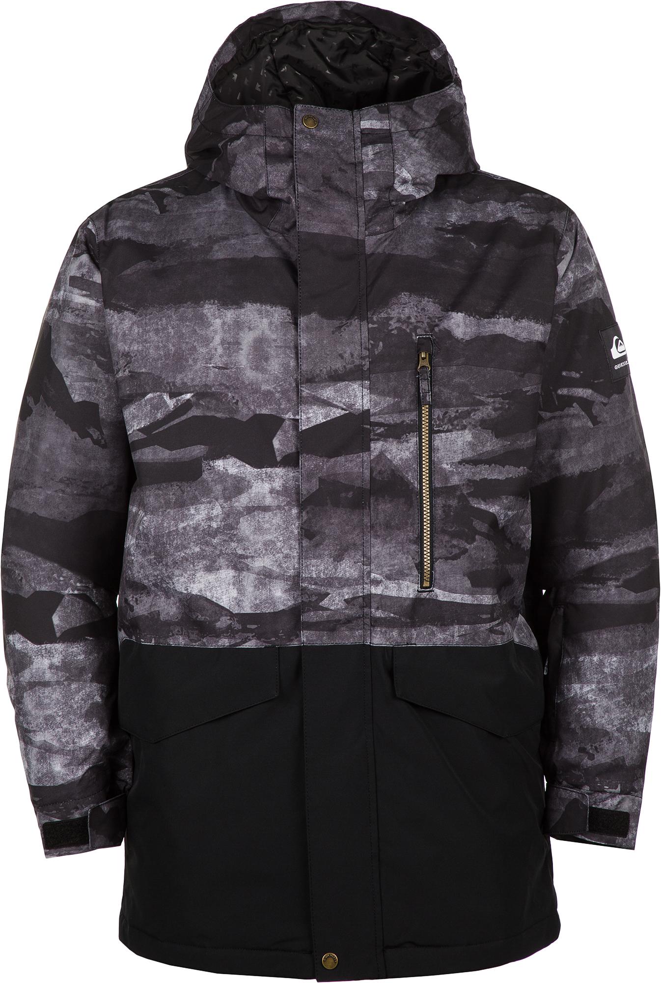 Quiksilver Куртка утепленная мужская Quiksilver Mission Printed Block J, размер 48-50 гидрофутболка quiksilver quiksilver qu192emeguf1