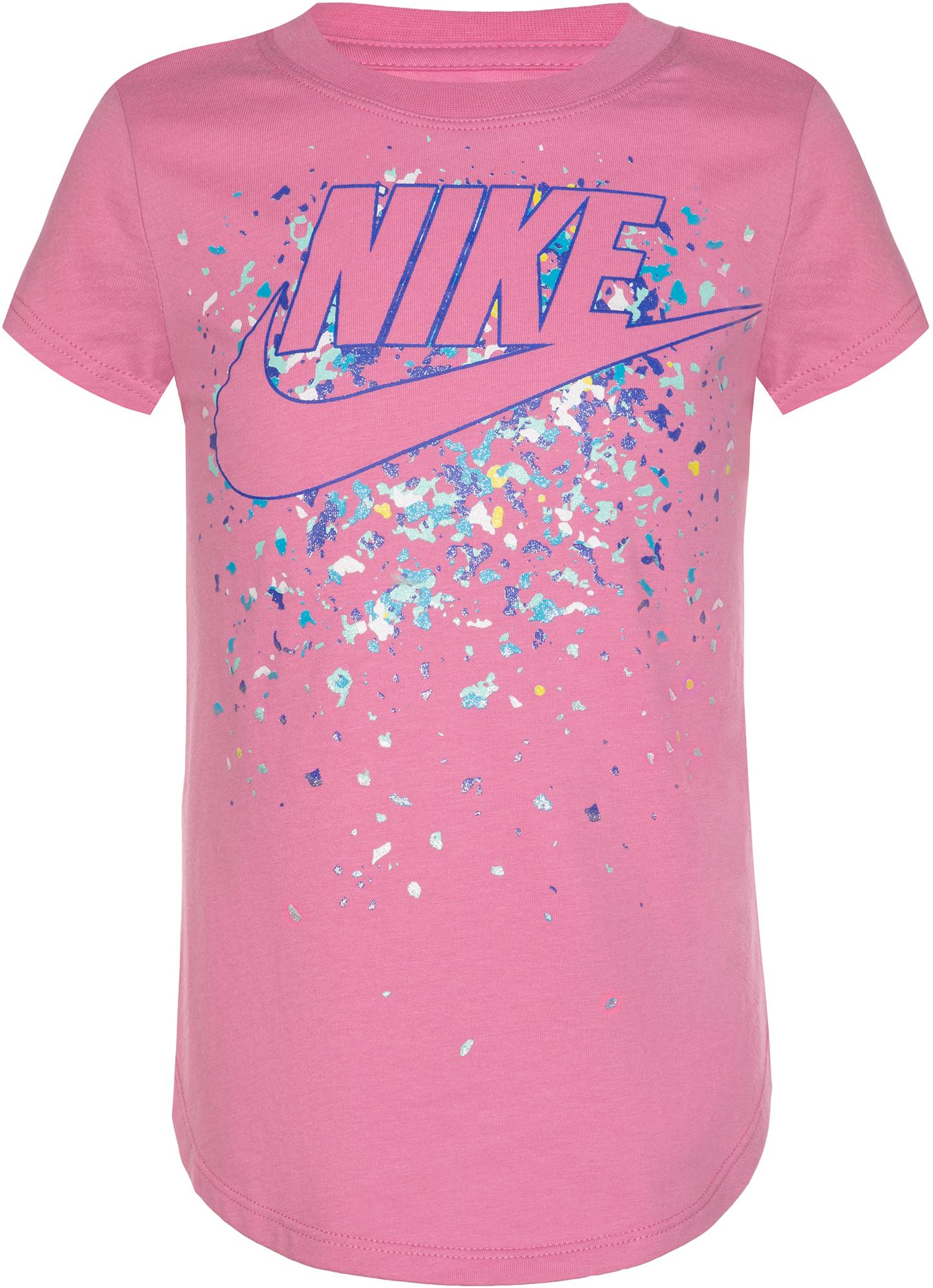 Nike Футболка для девочек Nike Futura Regrind Waterfall, размер 104