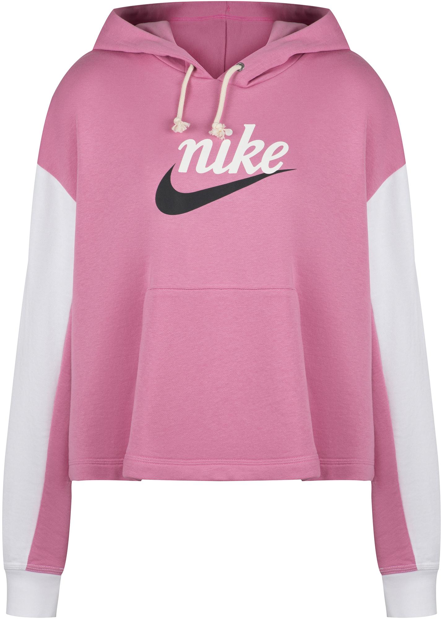 цена Nike Худи женская Nike Sportswear Varsity, Plus Size, размер 56-58 онлайн в 2017 году