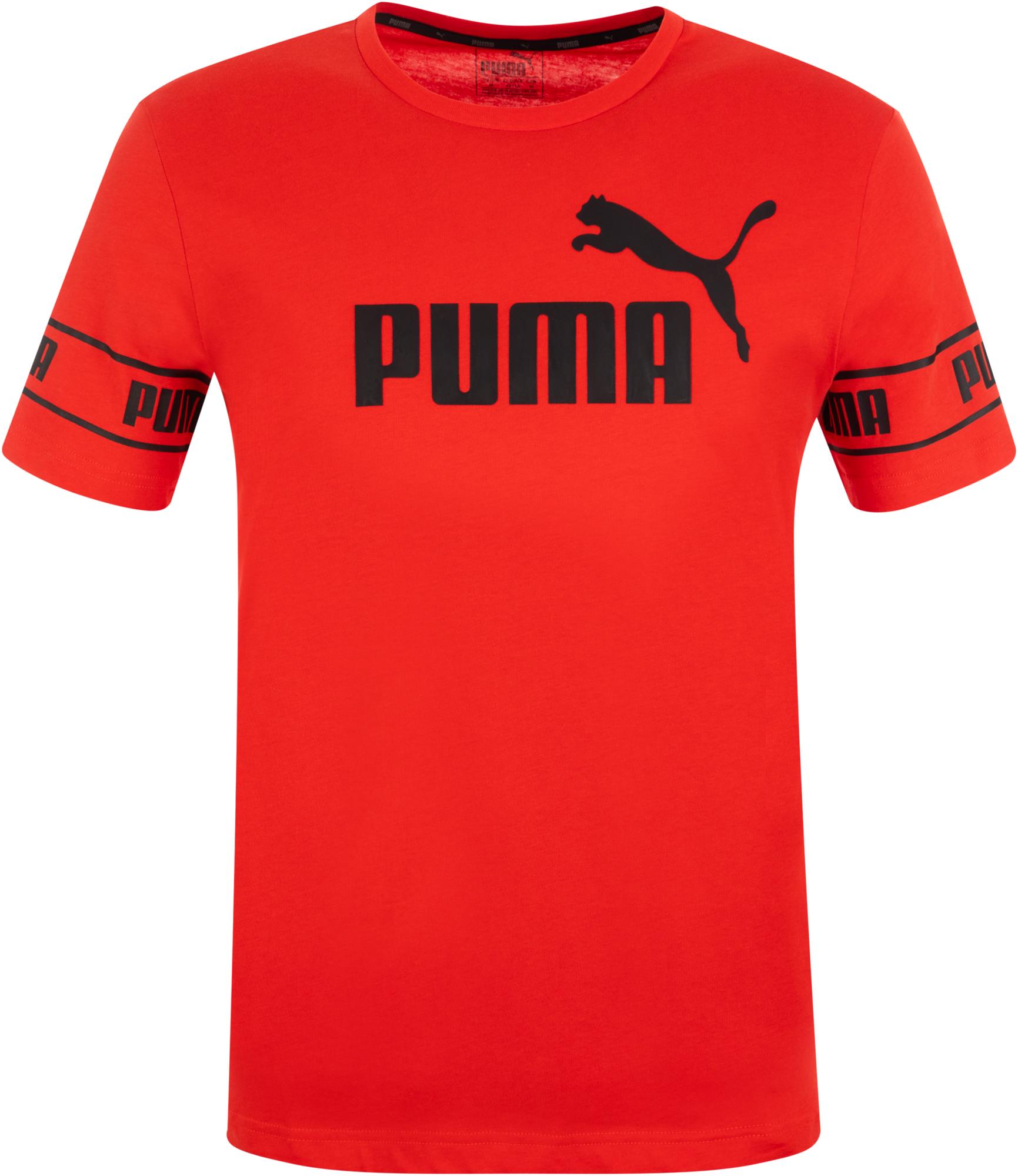 Puma Футболка мужская Puma Big Logo, размер 44-46 puma мяч футбольный puma ka big cat ball
