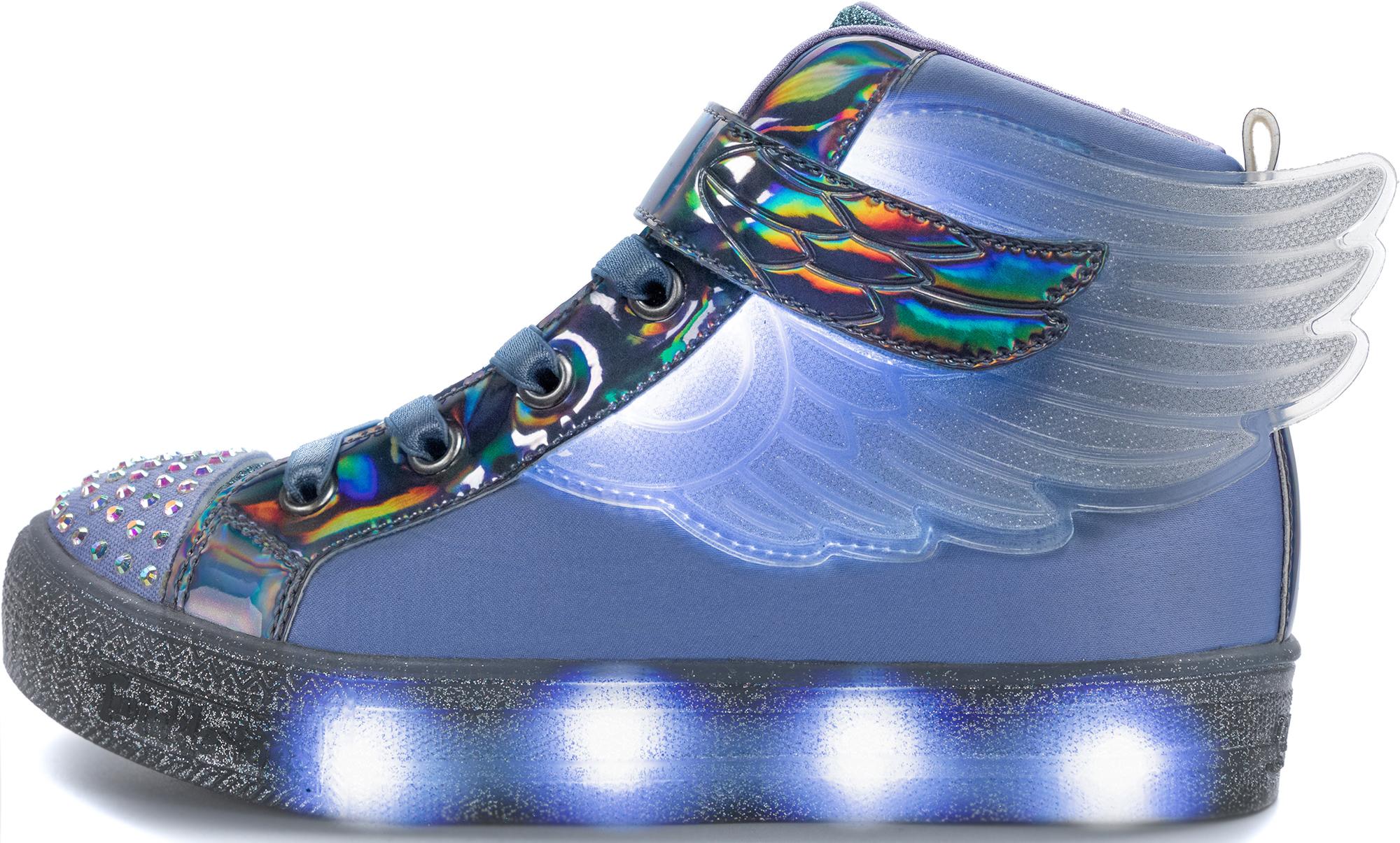 Skechers Кеды для девочек Shuffle Brights-Sparkle Wings, размер 36