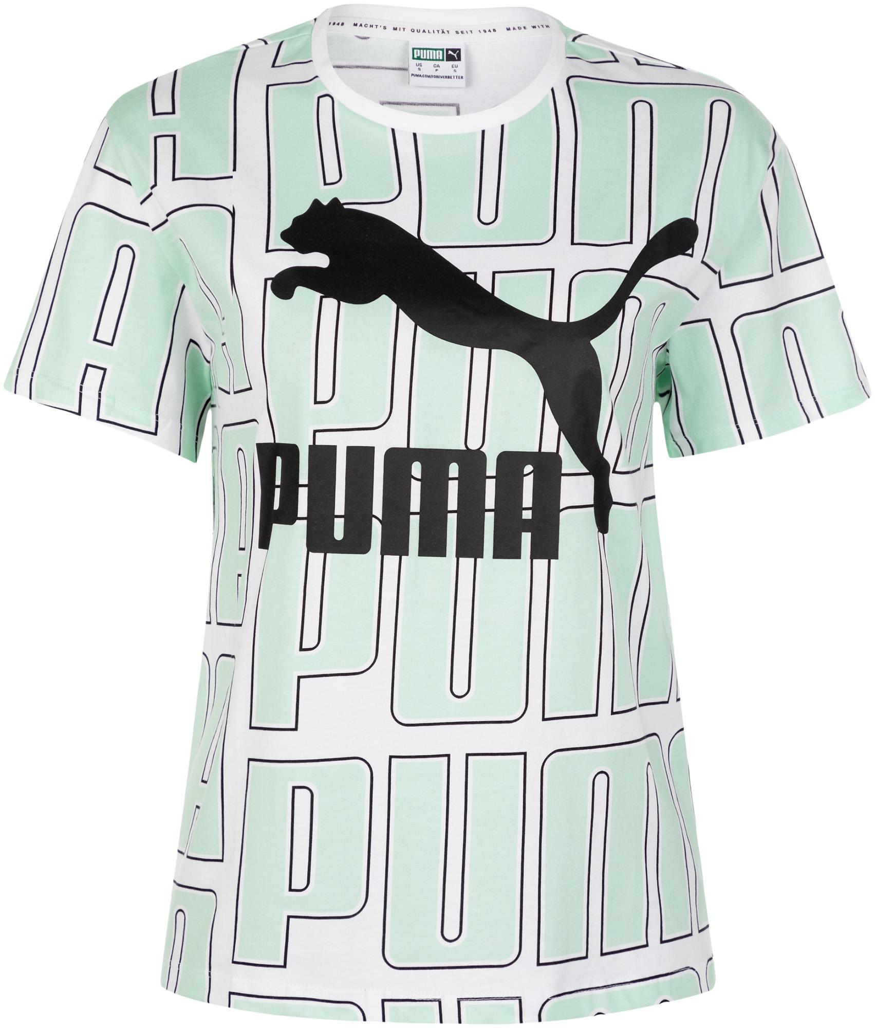 пуховик женский puma 70 30 480 down jacket цвет молочный 85166611 размер m 44 46 Puma Футболка женская Puma AOP, размер 44-46