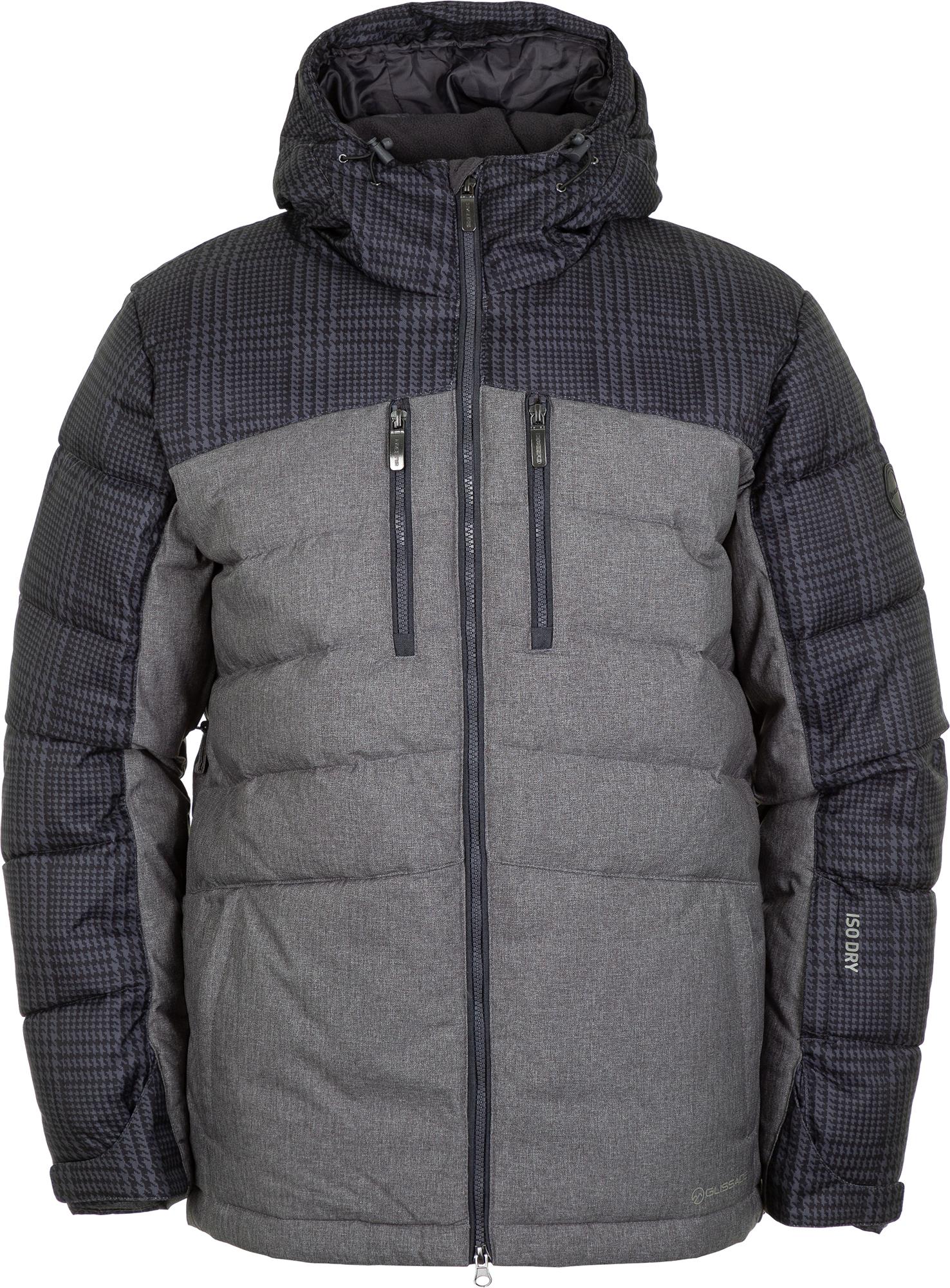 Glissade Куртка пуховая мужская Glissade, размер 60-62 куртка мужская reebok f puff bomber цвет черный dh2140 размер xxl 60 62