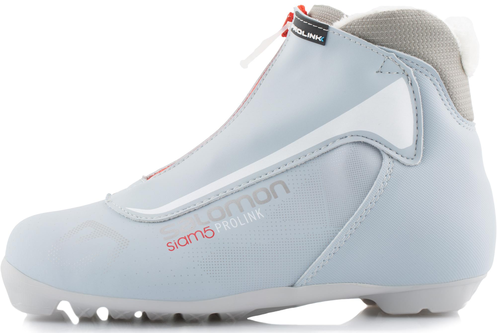 Salomon Ботинки для беговых лыж женские Salomon Siam 5 Prolink, размер 40 salomon крепления для лыж salomon prolink auto