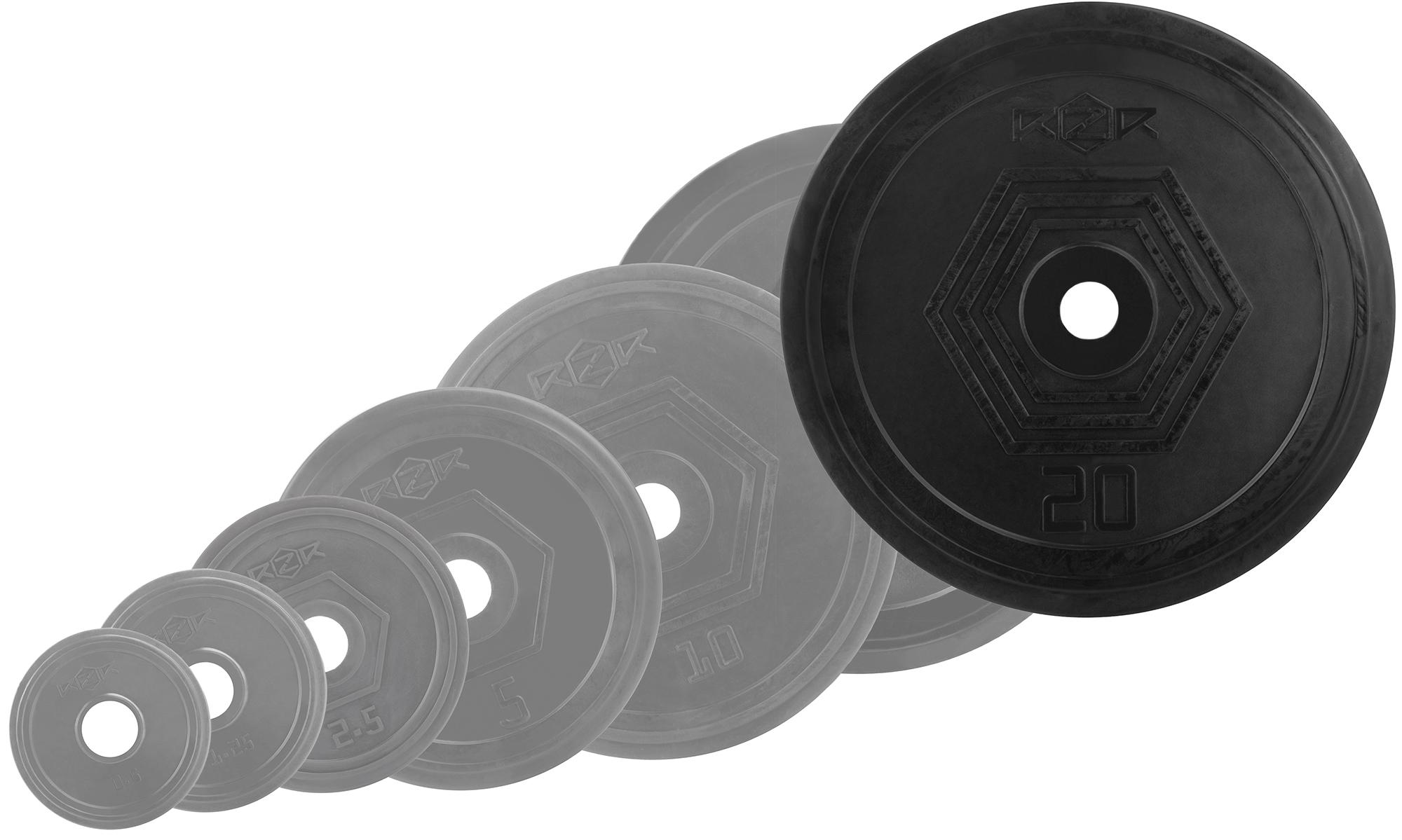 RZR Блин стальной обрезиненный RZR 20 кг диск обрезиненный titan 51 мм 5 кг черный