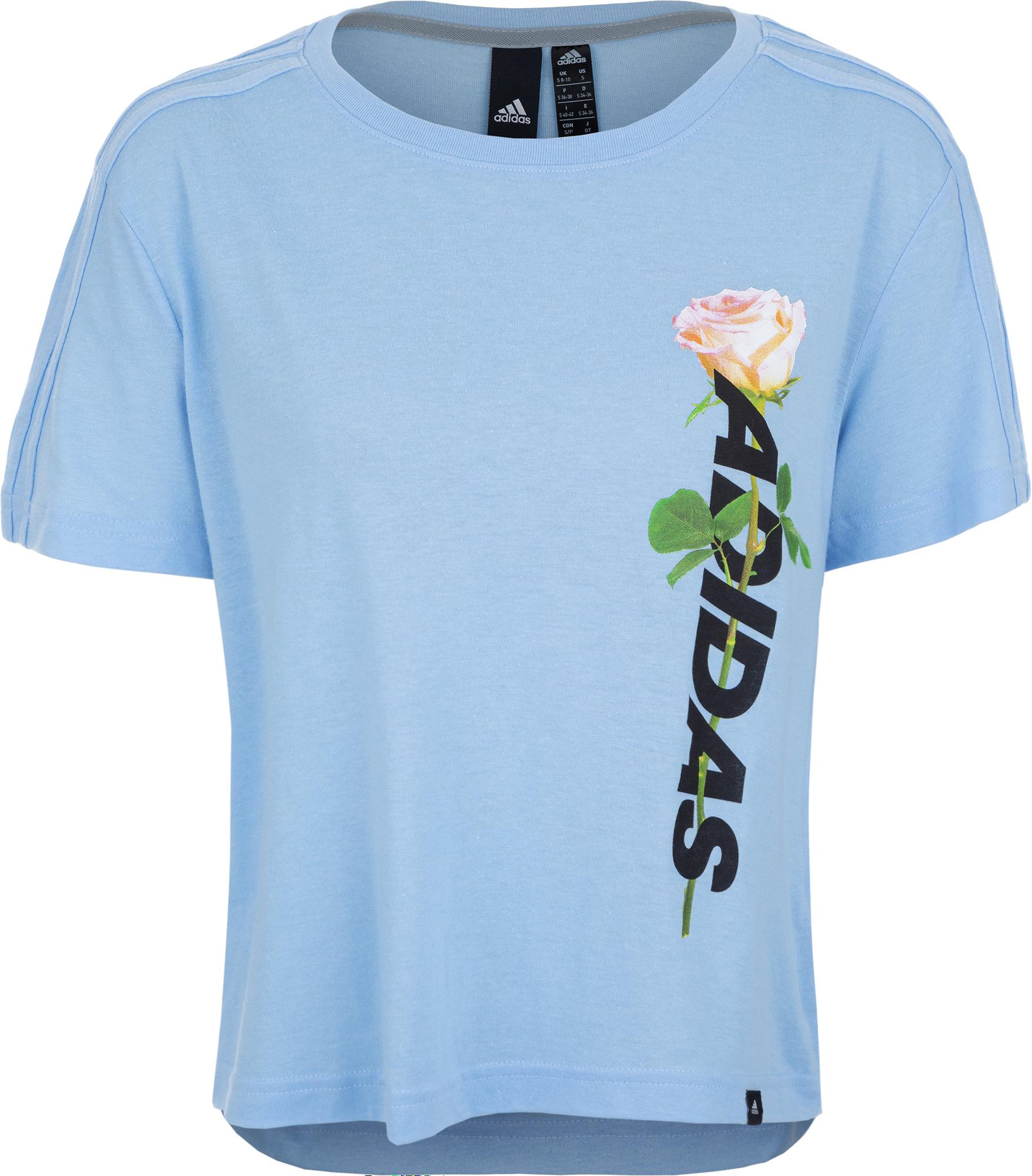 Adidas Футболка женская Adidas Work In Progress Floral Essentials, размер 46-48 все цены