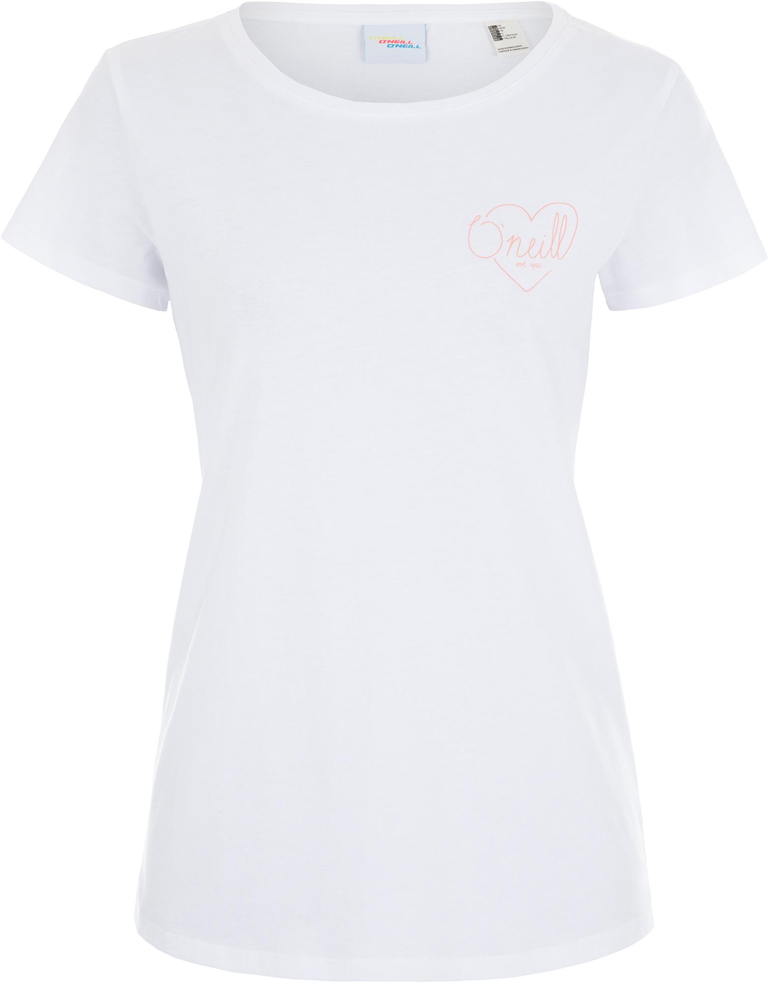 O'Neill Футболка женская O'Neill Lw Flower, размер 48-50 футболка женская o neill lw brooklyn banks t shirt цвет светло серый 9a7310 8101 размер m 46 48