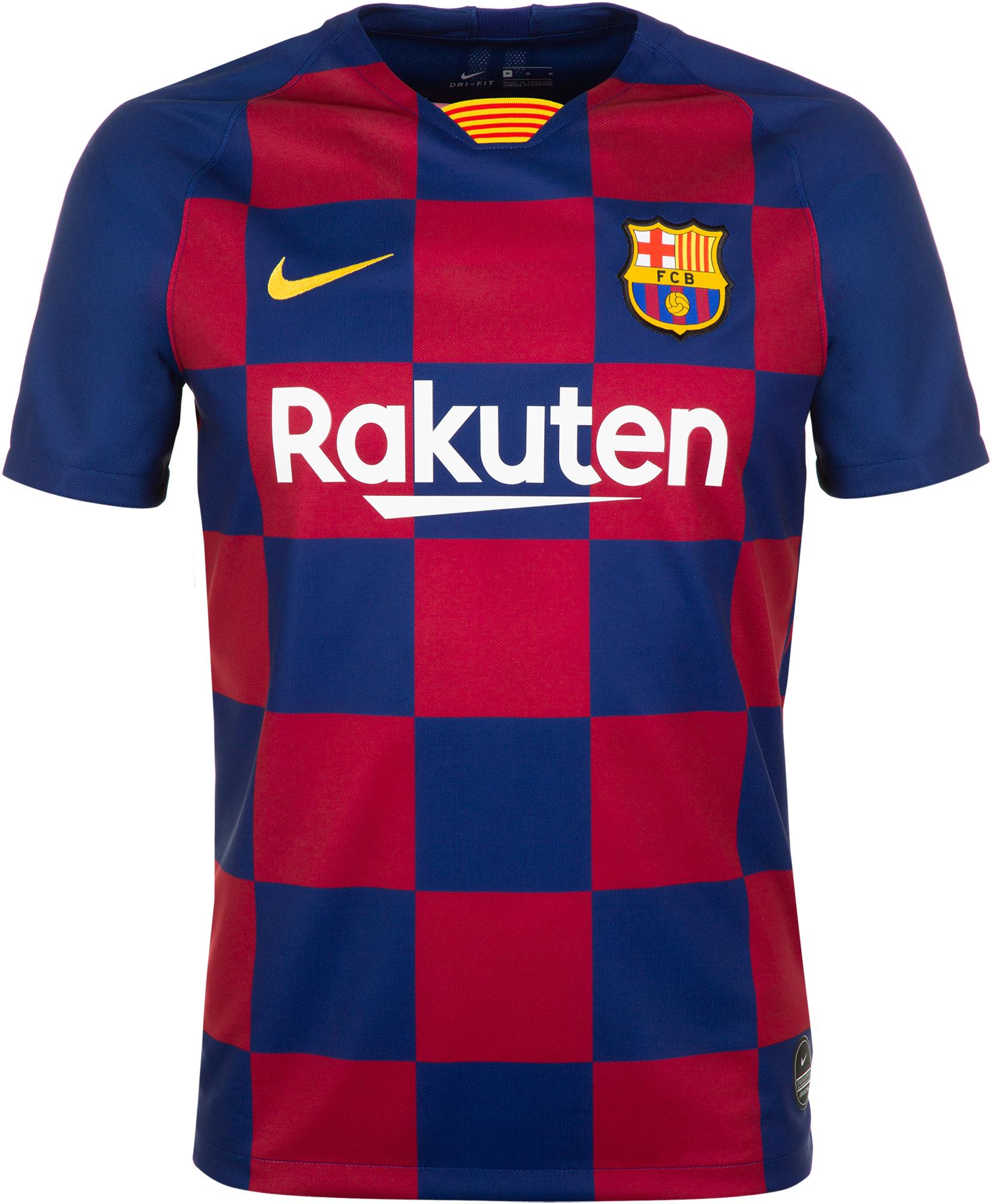 Nike Футболка мужская Nike FC Barcelona Stadium Home, размер 46-48 женская игровая футболка nike barcelona home stadium 894447 456
