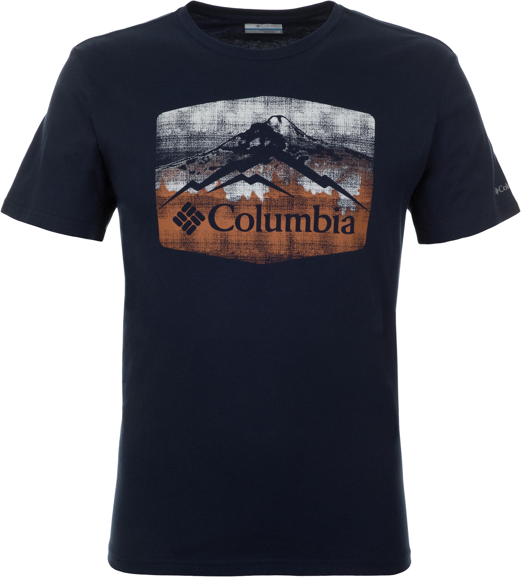 Columbia Футболка мужская Columbia Warren Grove Tee, размер 56-58 футболка мужская reebok f striped tee цвет серый bk3324 размер xl 56 58
