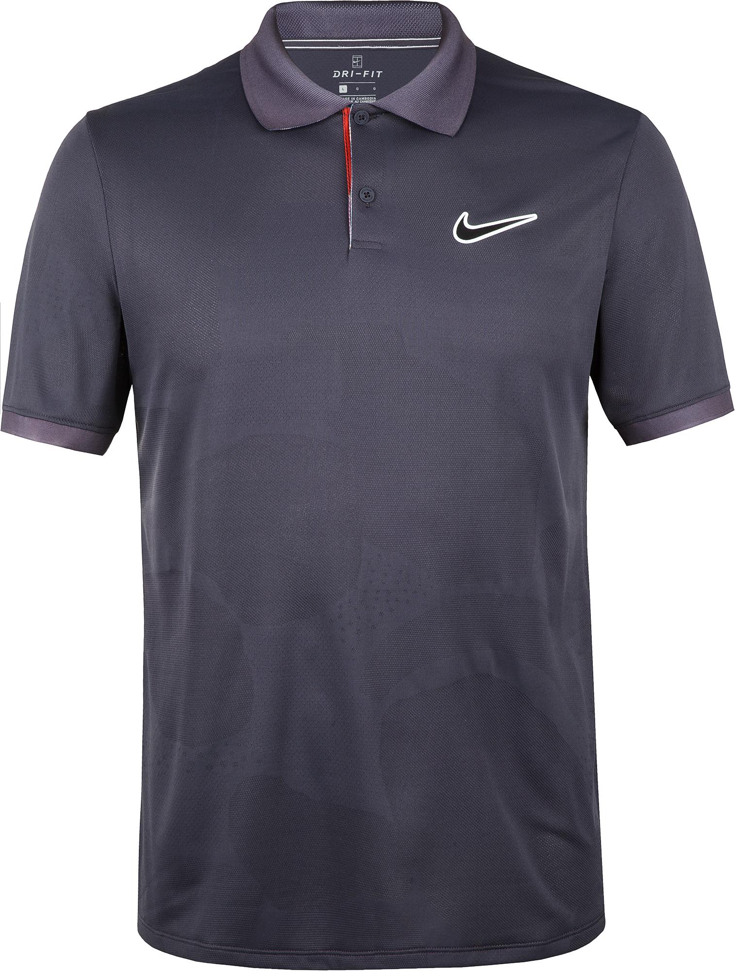 Nike Поло мужское Nike Court Breathe Advantage, размер 52-54 поло мужское rav цвет коричневый белый rav01 021 размер xl 52