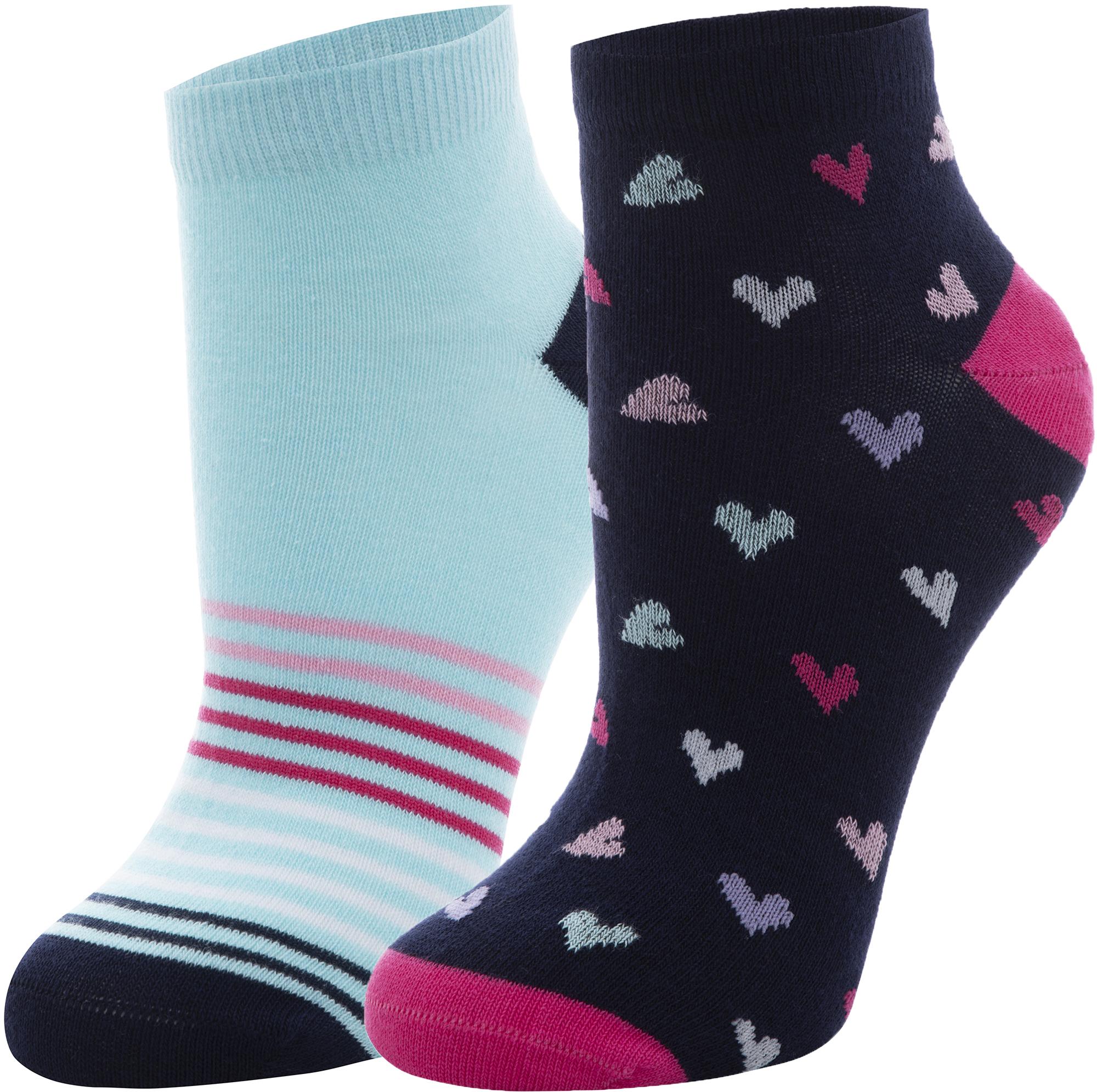 Demix Носки для девочек Demix, 2 пары, размер 34-36