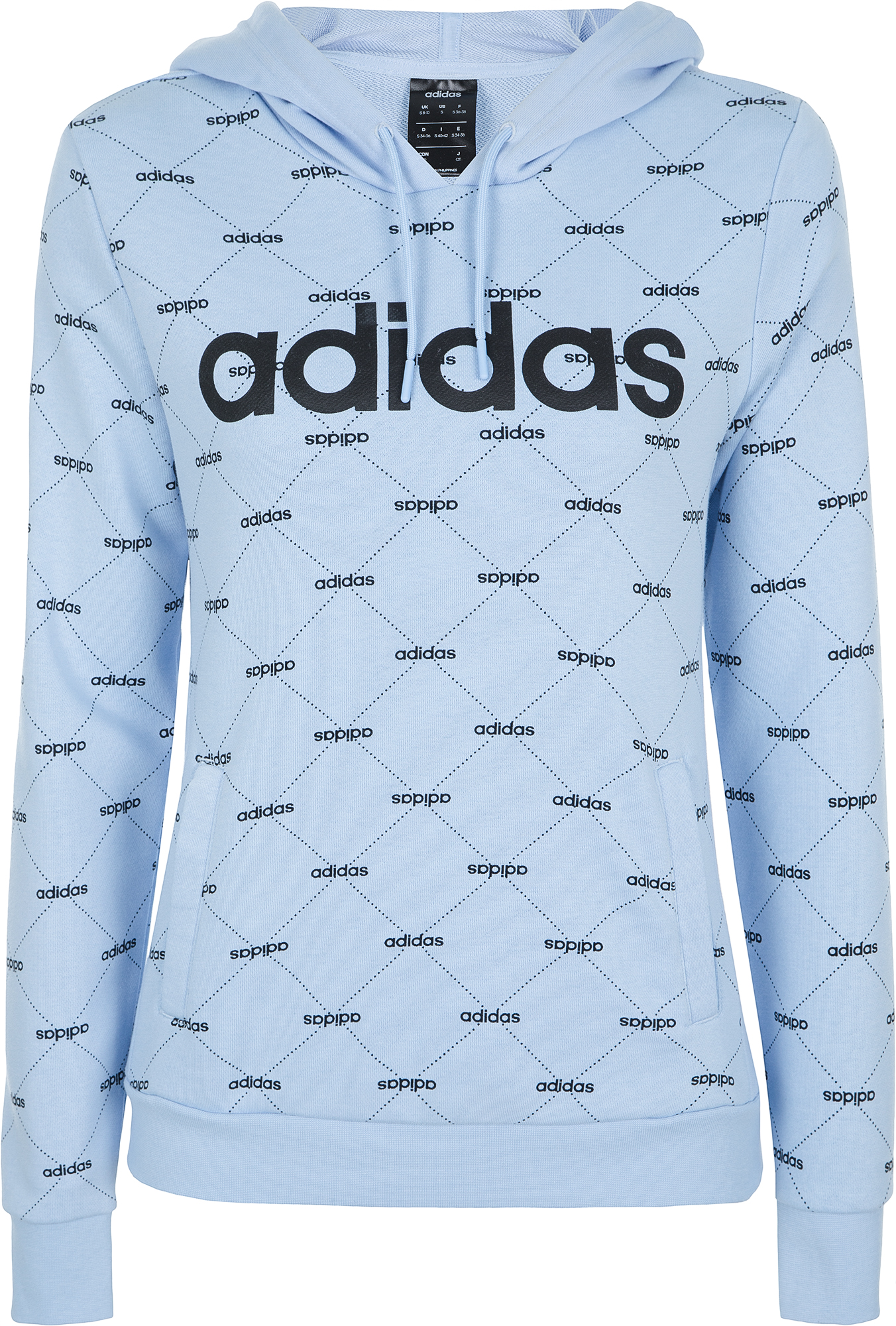 Adidas Худи женская Adidas Linear Graphic, размер 40 clothes graphic striped hoodie