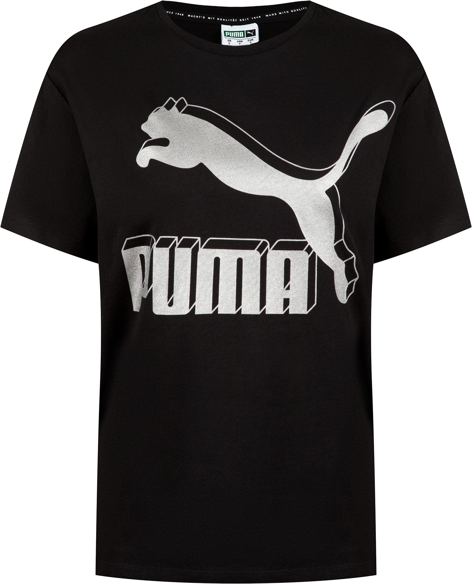 Puma Футболка женская Puma Classics Logo Tee, размер 48-50 майка женская puma mesh it up layer tank цвет черный 51641701 размер xxl 50 52