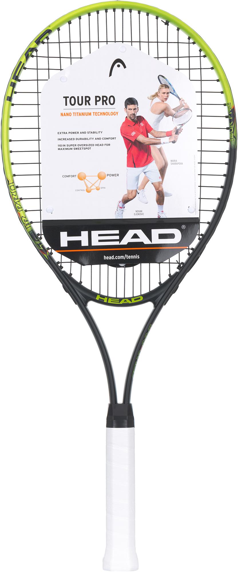 где купить Head Ракетка для большого тенниса 27' Head Tour Pro дешево