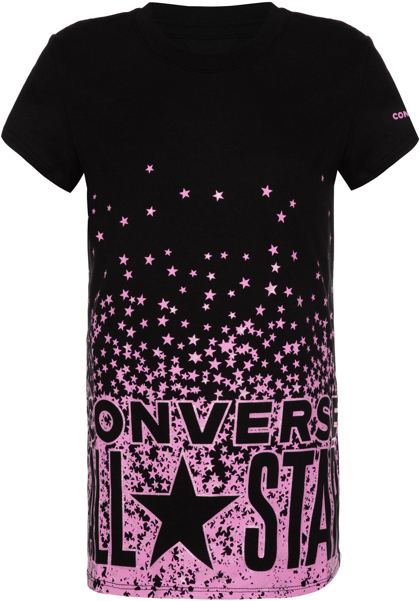 Фото - Converse Футболка для девочек Converse All Star Knockout Tee, размер 128 футболка converse tilted star chevron tee