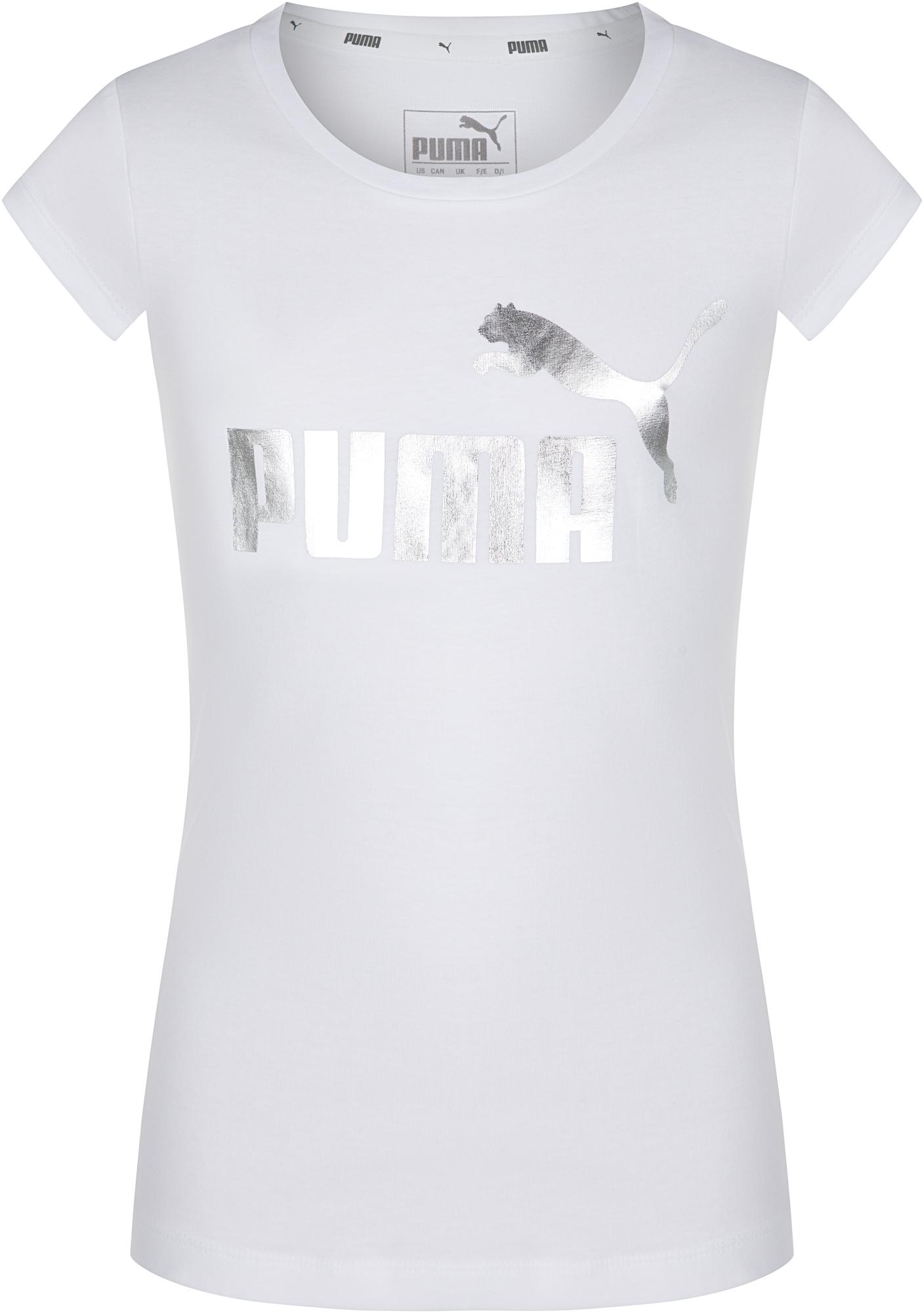 цена на Puma Футболка для девочек Puma Girls Glitter Tee, размер 164